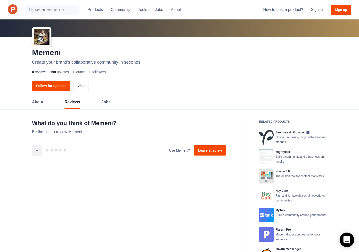 Memeni Reviews - Pros, Cons and Rating   Product Hunt