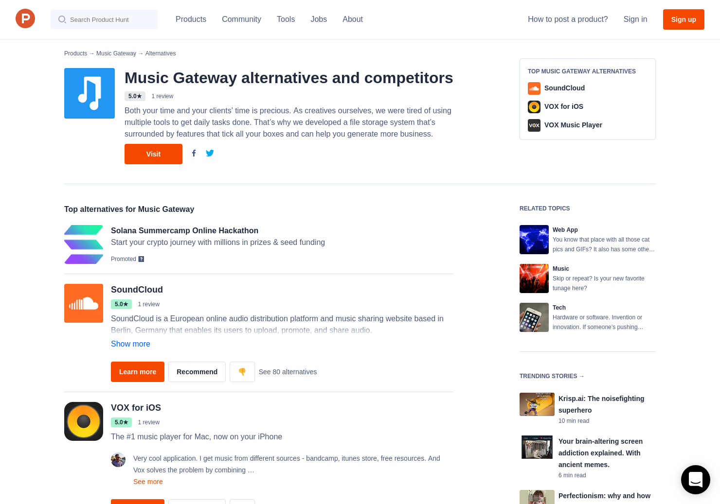 5 Alternatives to Music Gateway | Product Hunt