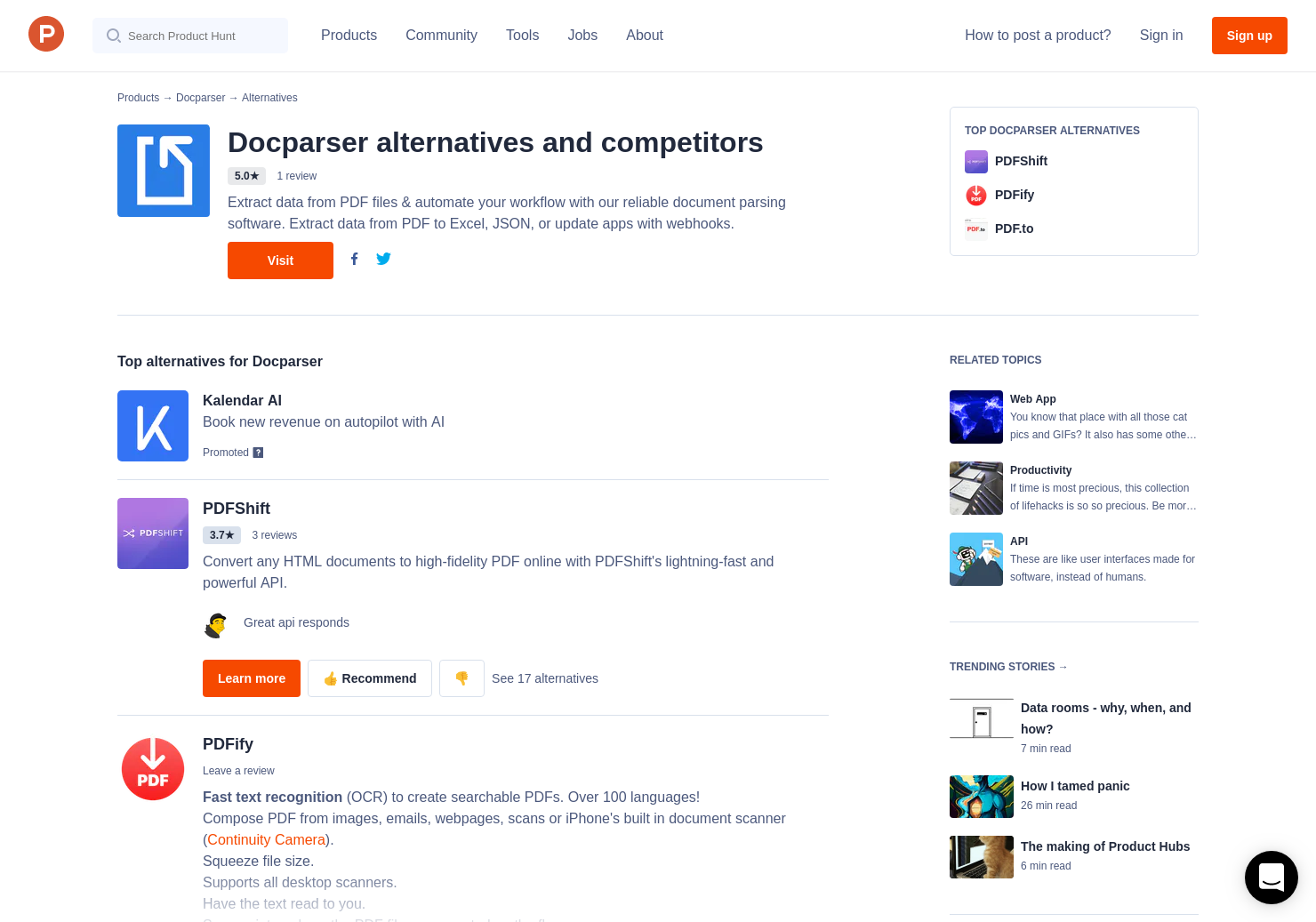 12 Alternatives to Docparser | Product Hunt