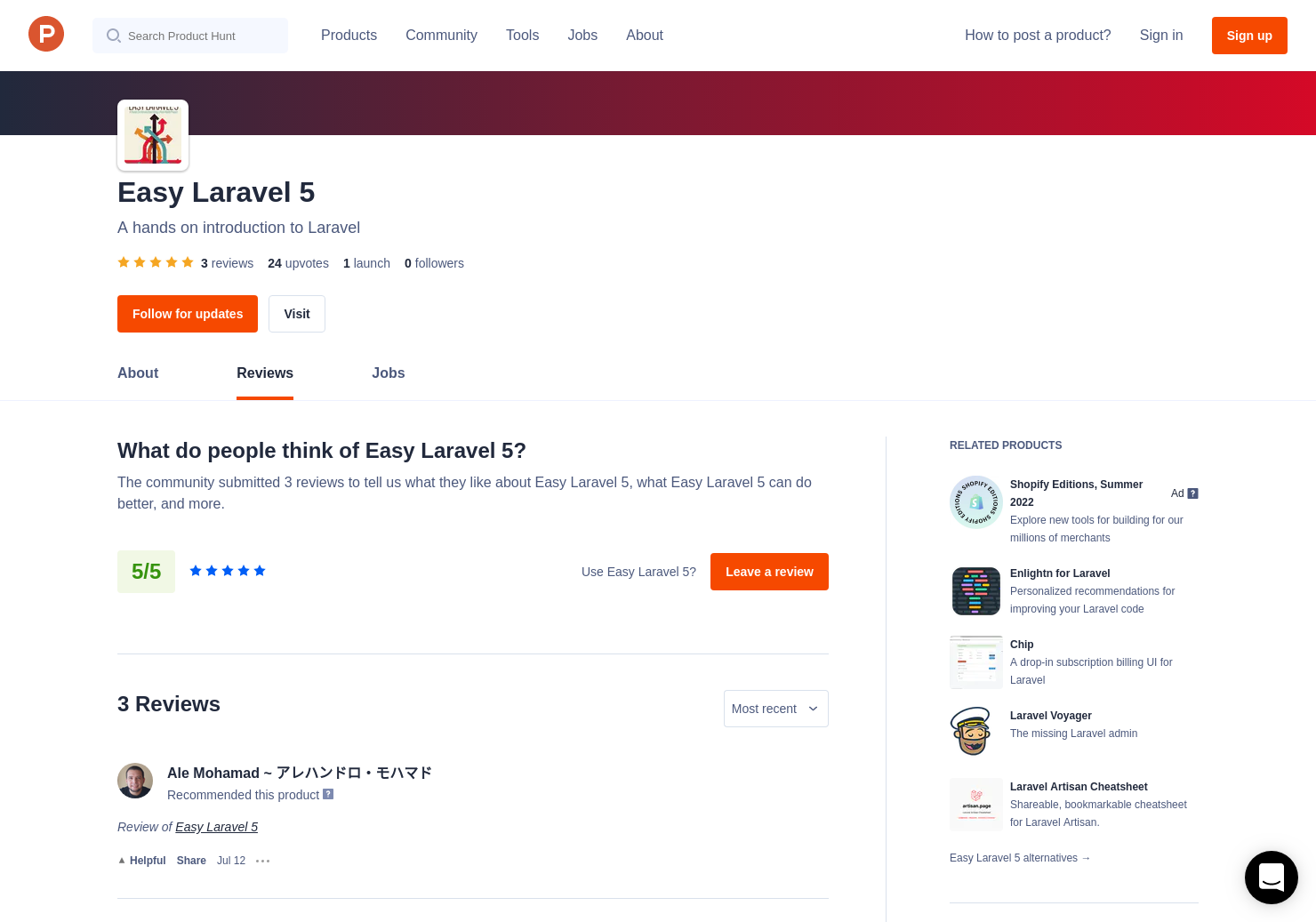 Easy Laravel 5 Reviews - Pros, Cons and Rating | Product Hunt