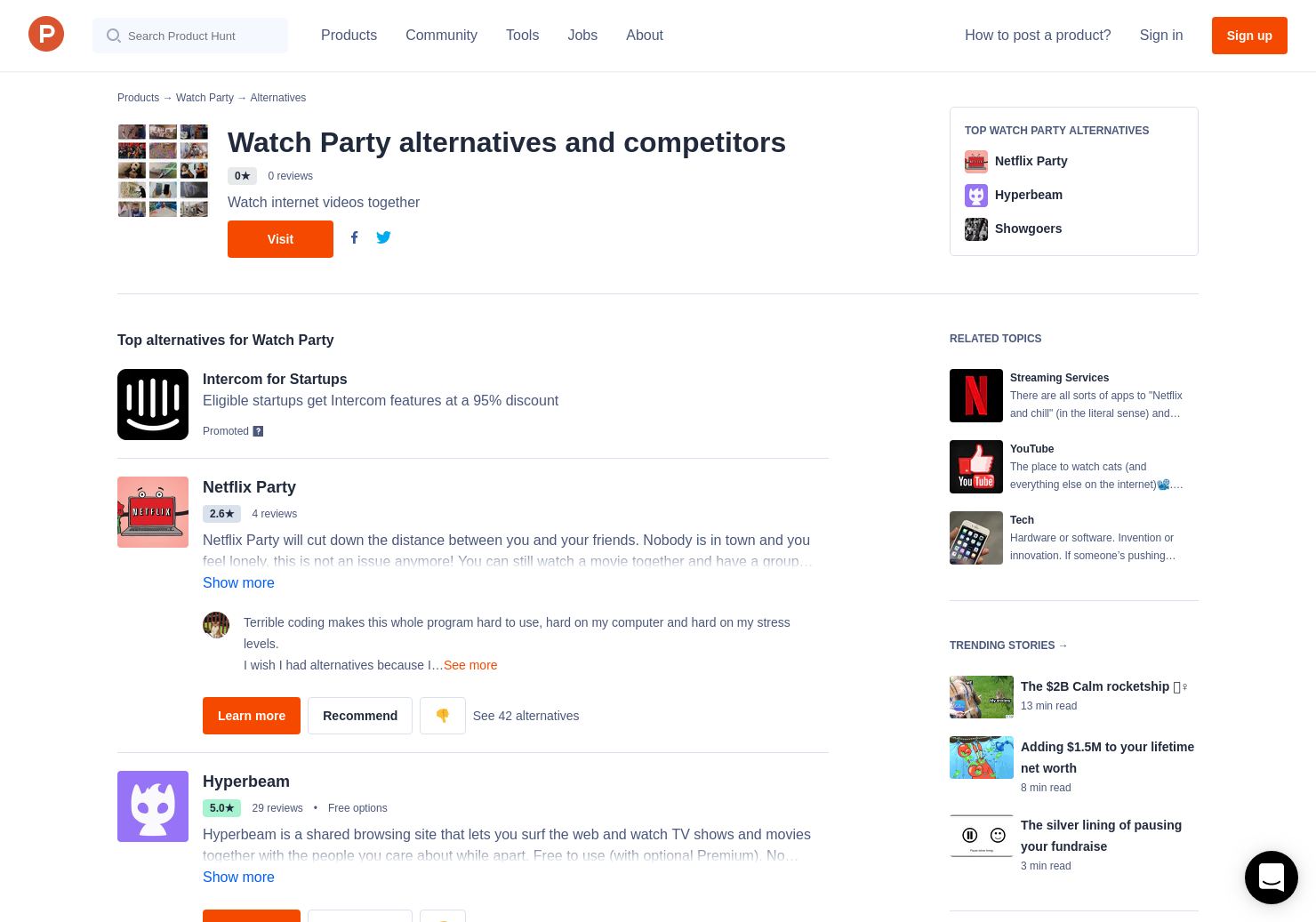 7 Alternatives to Watch Party | Product Hunt