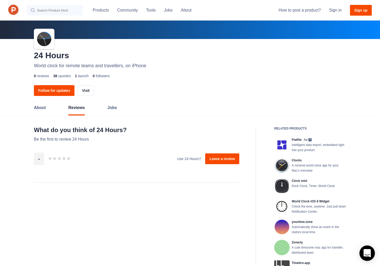 24 Hours Reviews - Pros, Cons and Rating | Product Hunt