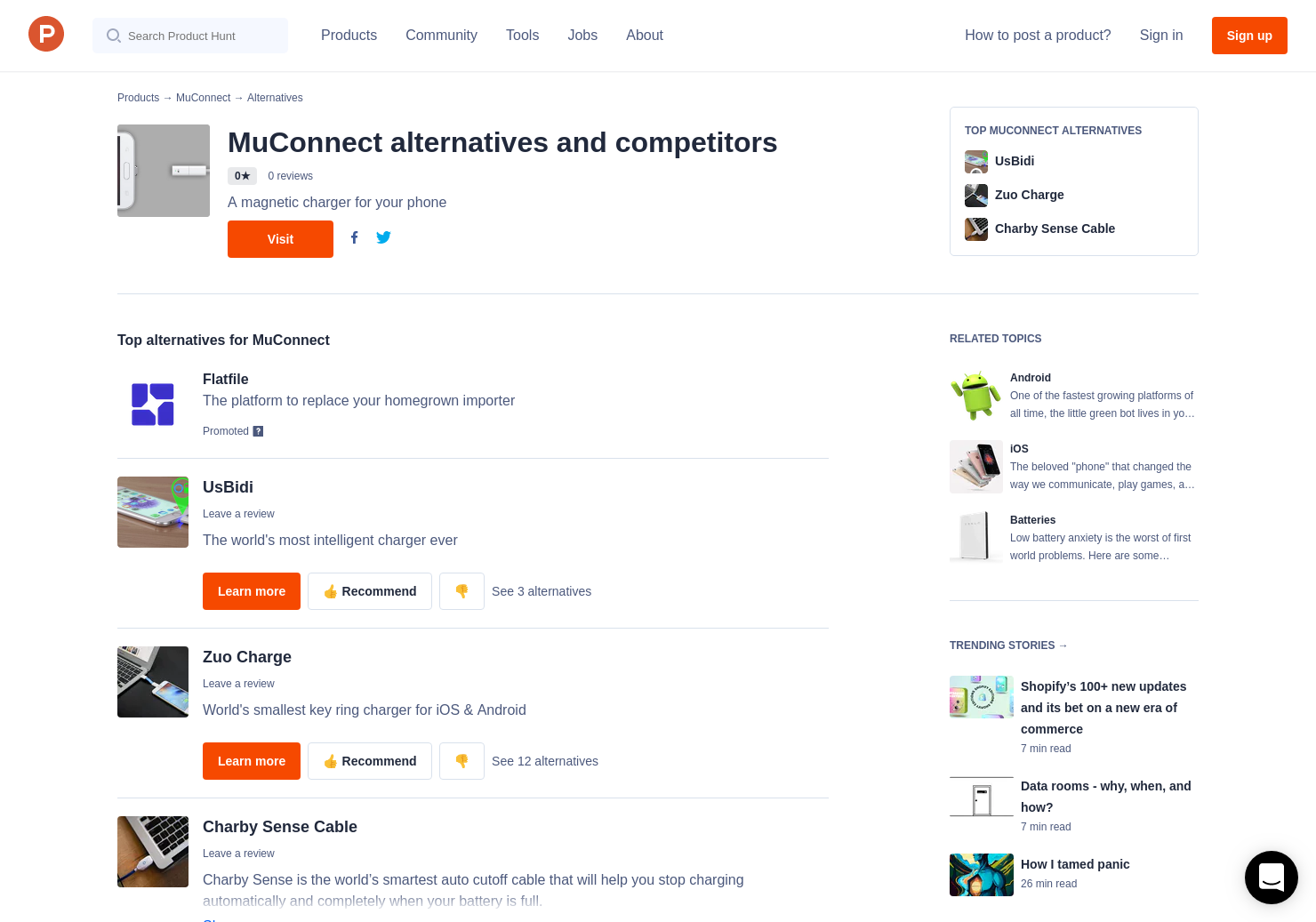 3 alternatives to muconnect product hunt