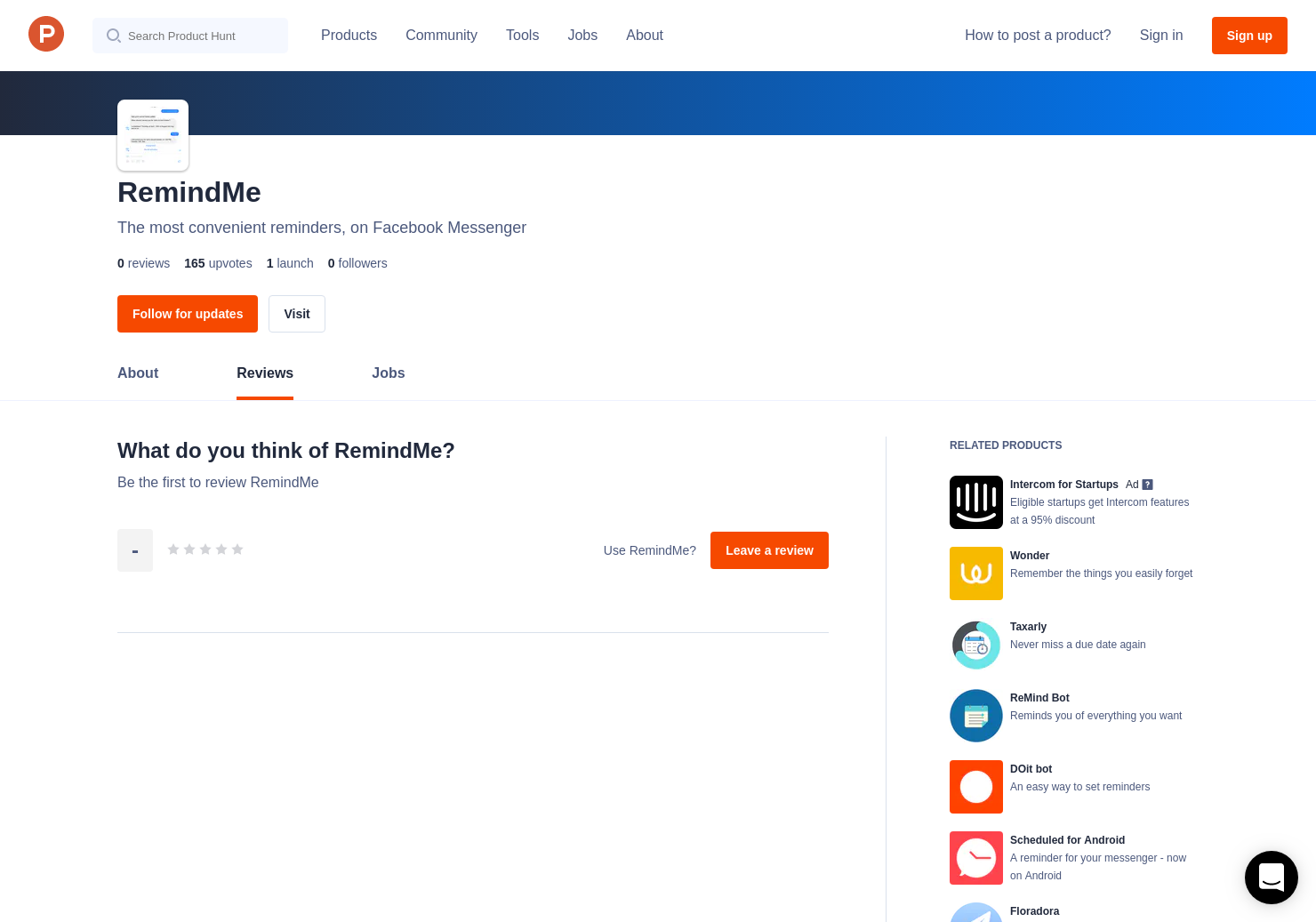 RemindMe Reviews - Pros, Cons and Rating | Product Hunt