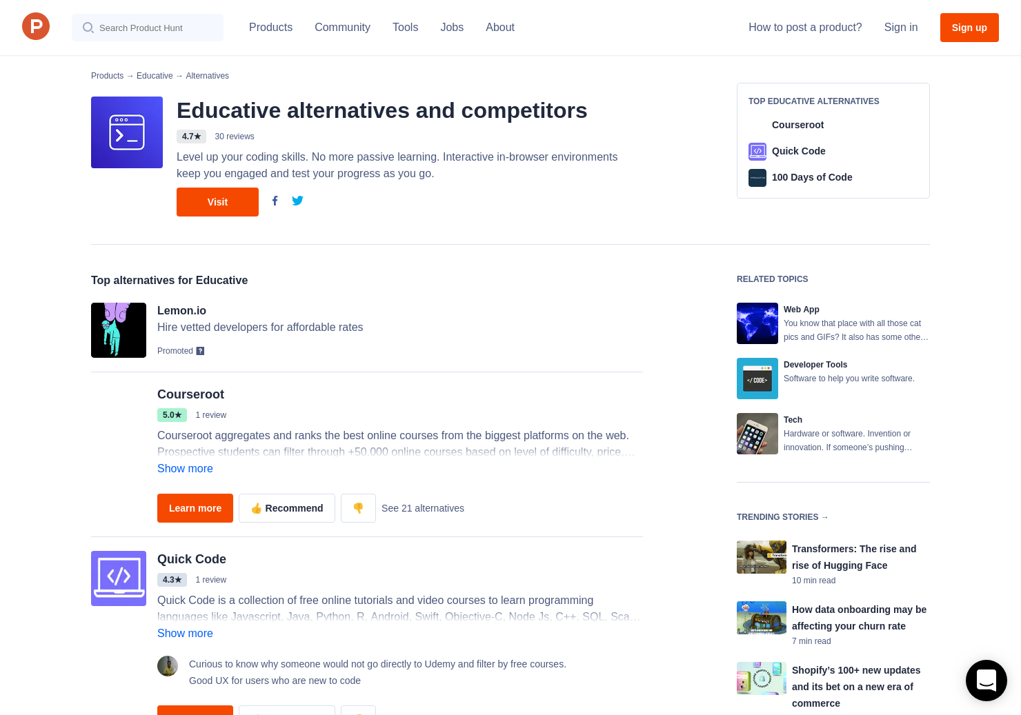 10 Alternatives to Educative | Product Hunt