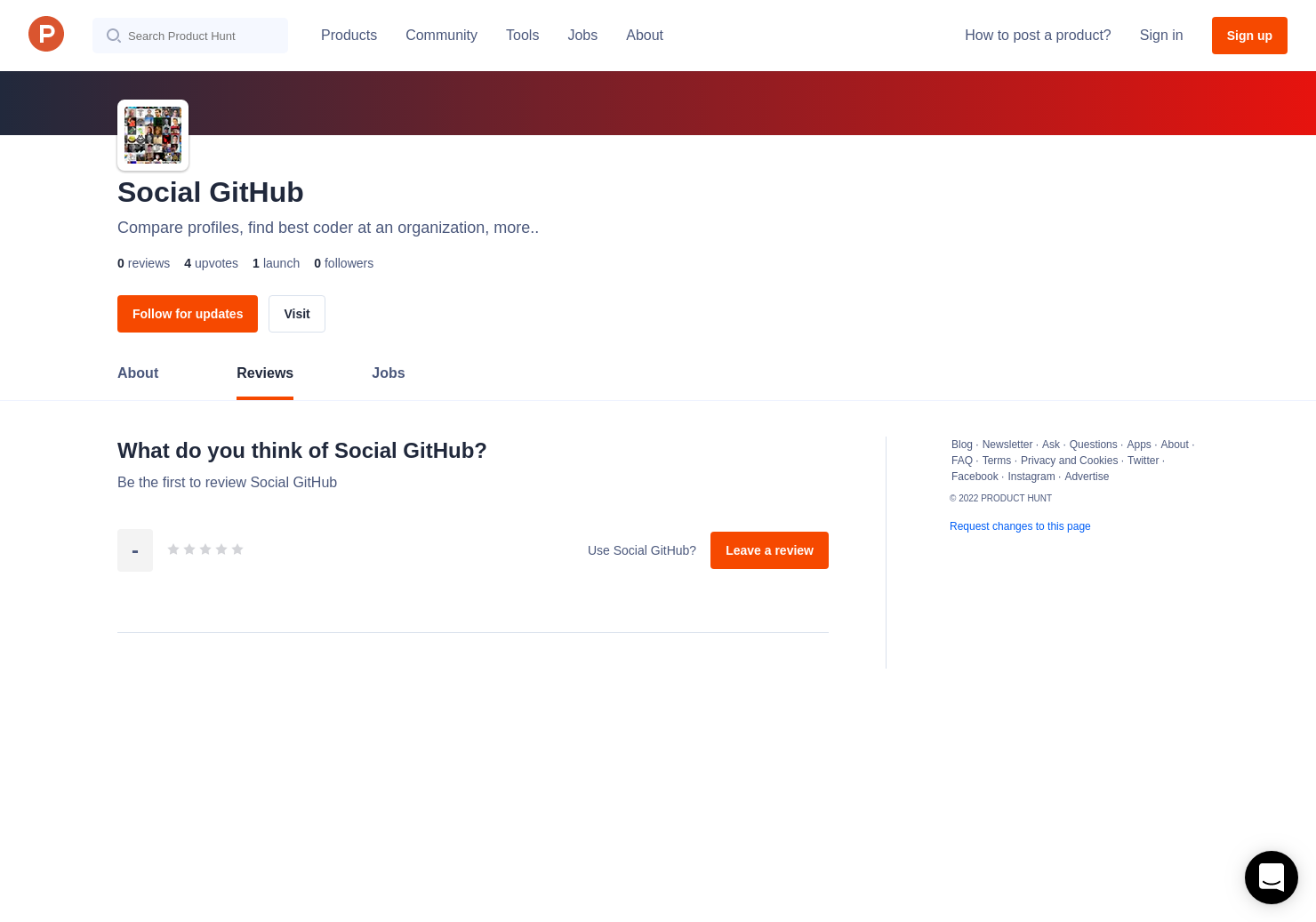 Social GitHub Reviews - Pros, Cons and Rating | Product Hunt