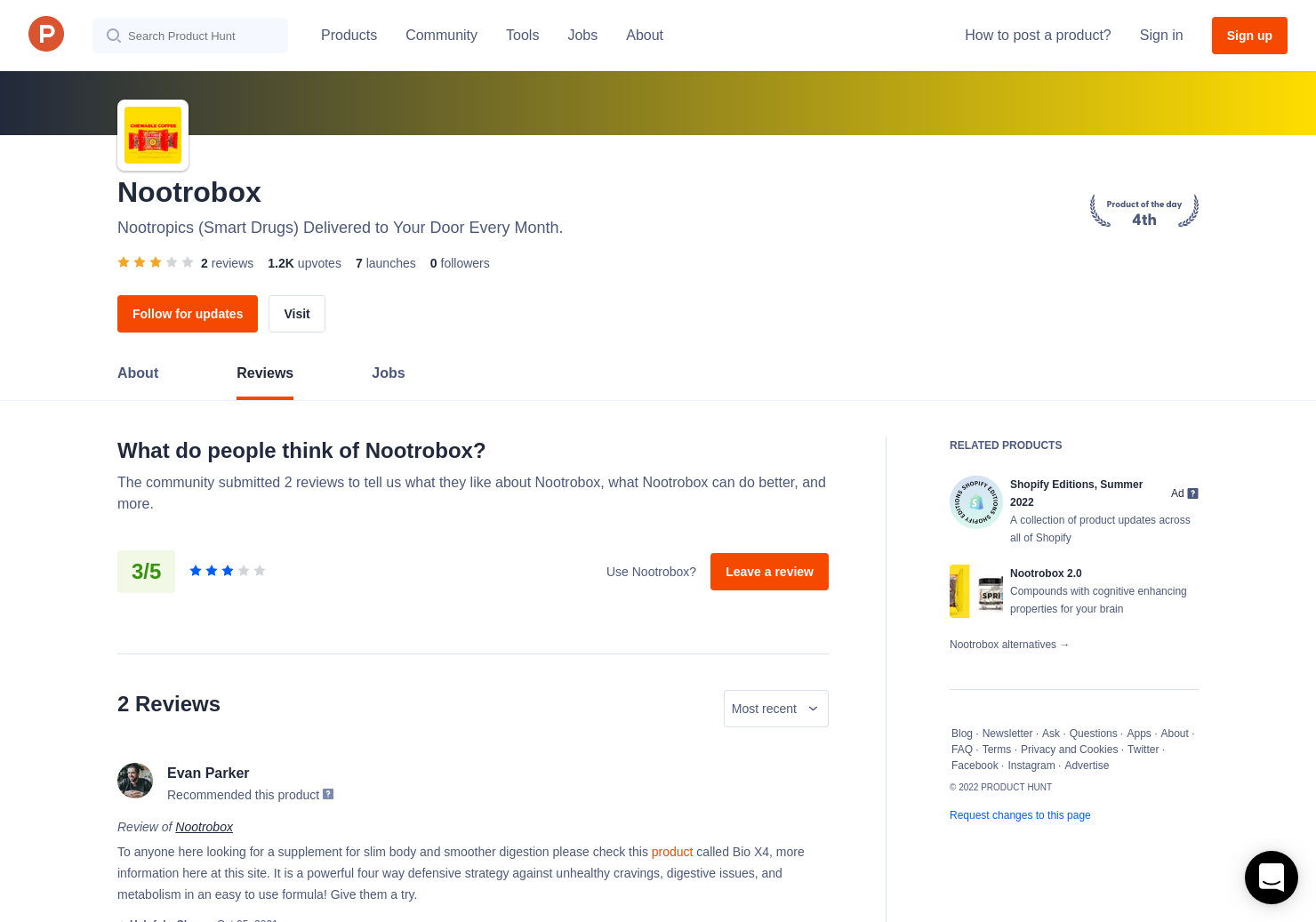 Nootrobox 2 0 Reviews Pros Cons And Rating Product Hunt