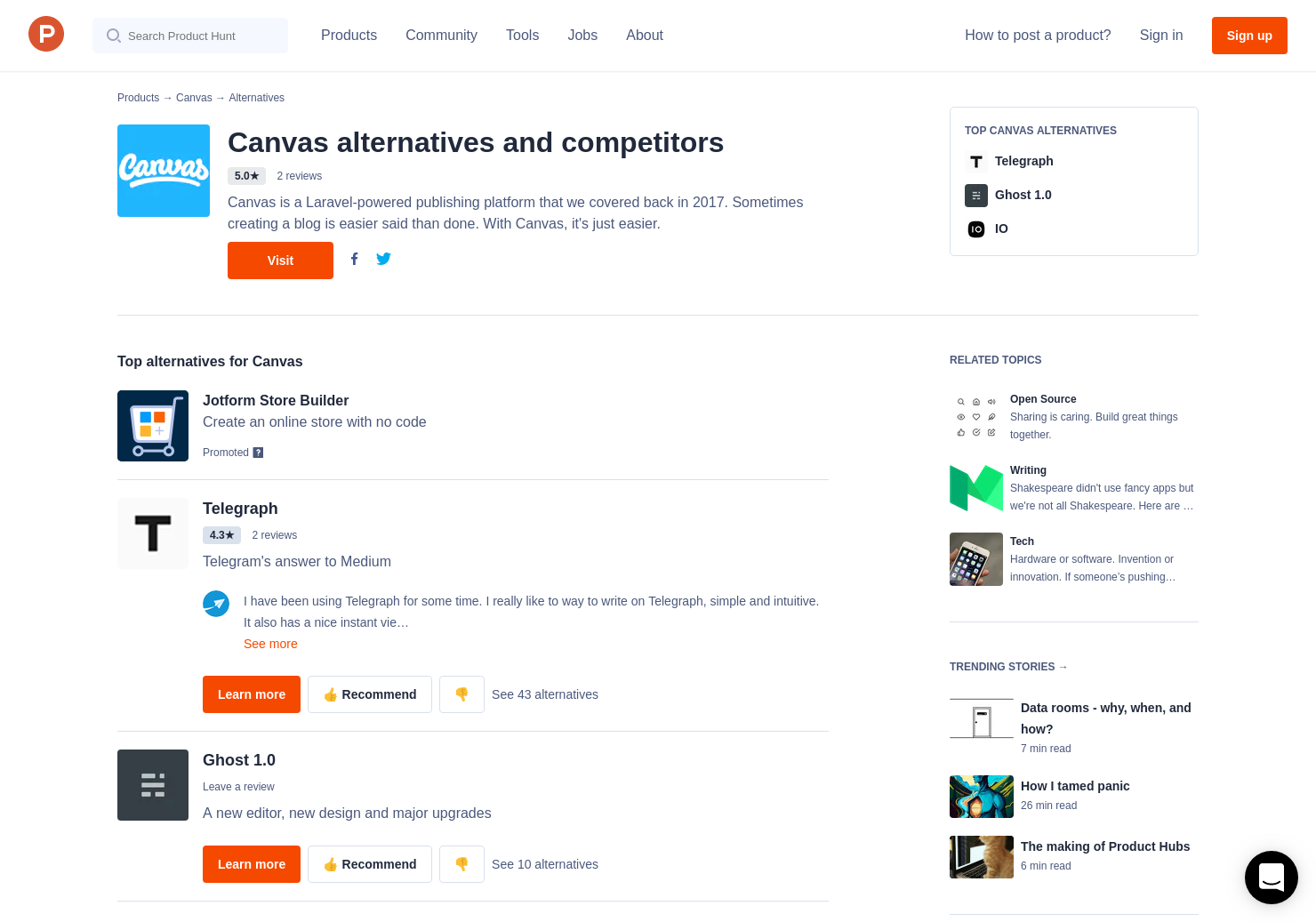 11 Alternatives to Canvas | Product Hunt