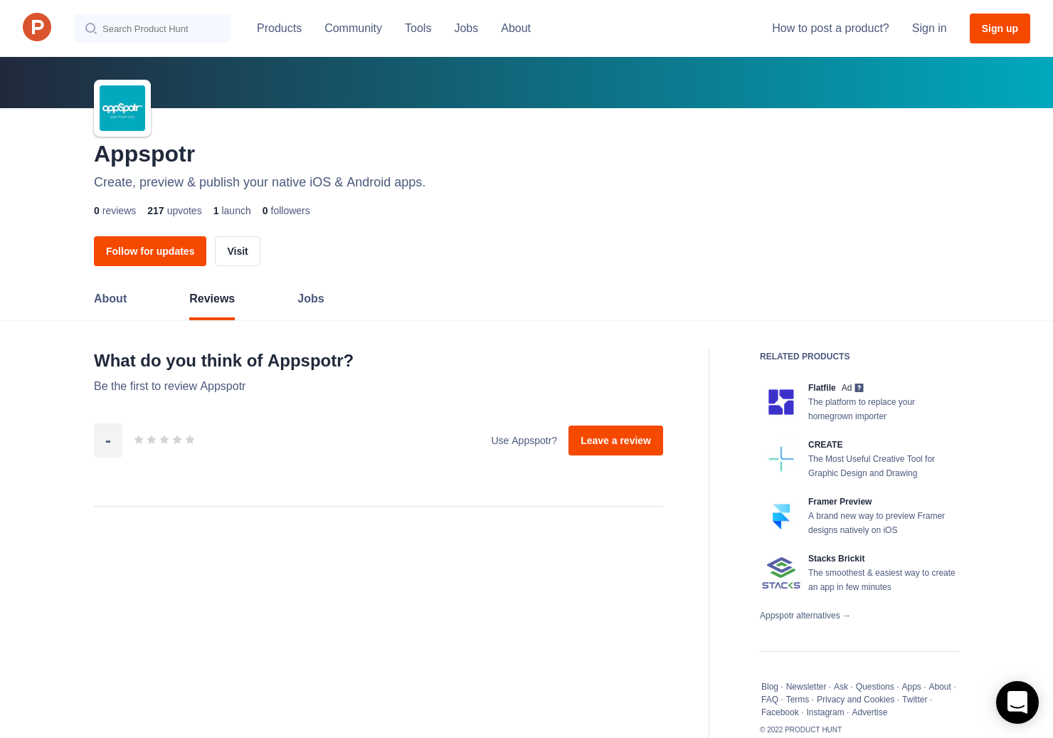Appspotr Reviews - Pros, Cons and Rating | Product Hunt
