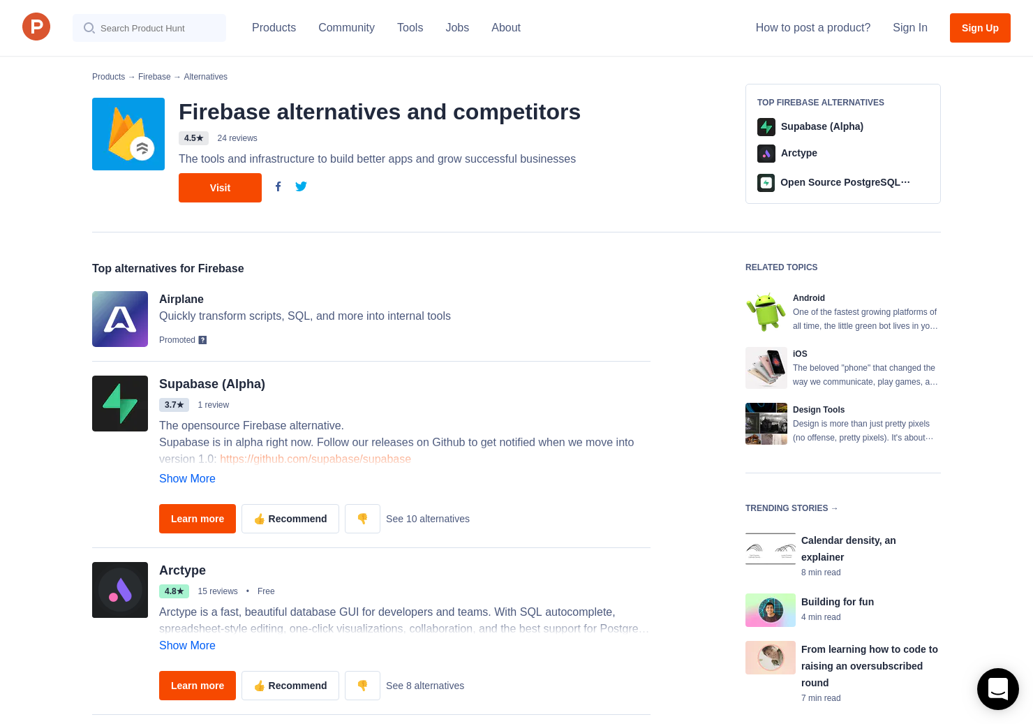 9 Alternatives to Cloud Firestore, by Firebase | Product Hunt