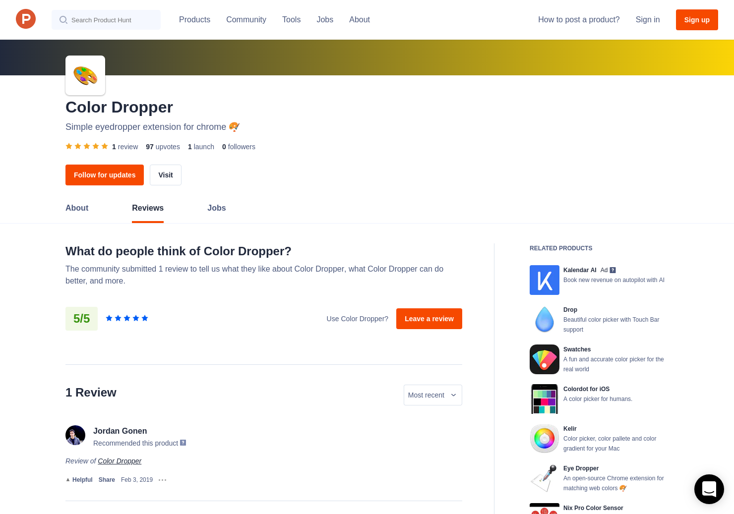 1 Color Dropper Reviews - Pros, Cons and Rating   Product Hunt