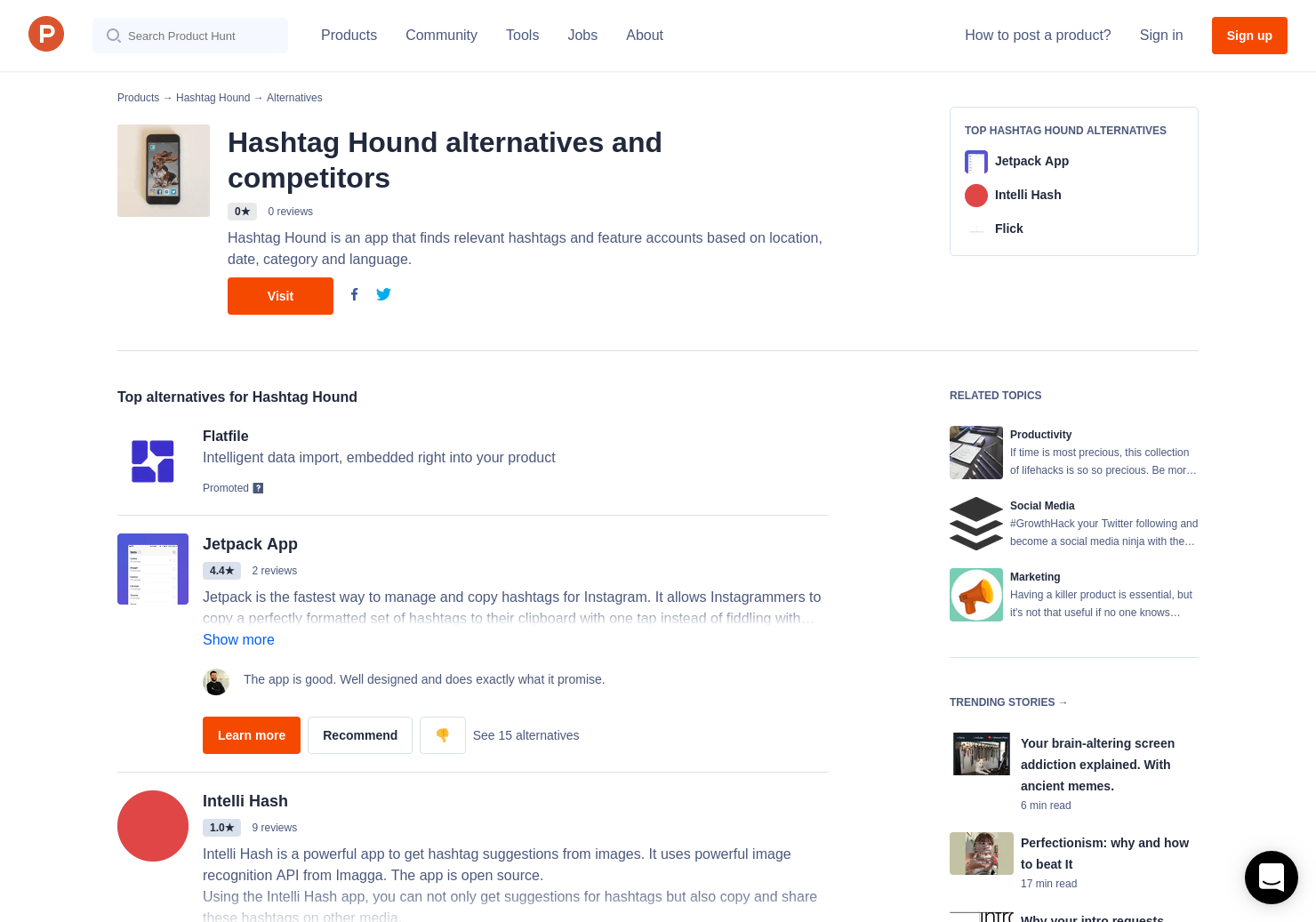 9 Alternatives to Hashtag Hound | Product Hunt