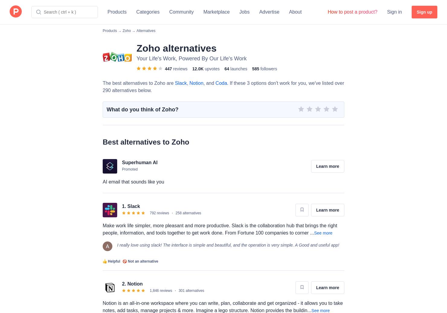 7 Alternatives to Zoho Creator | Product Hunt