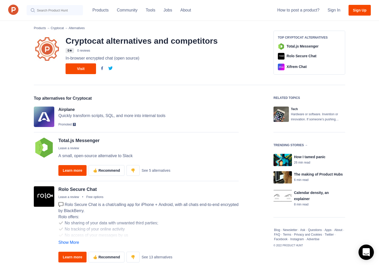 1 Alternatives to Cryptocat | Product Hunt