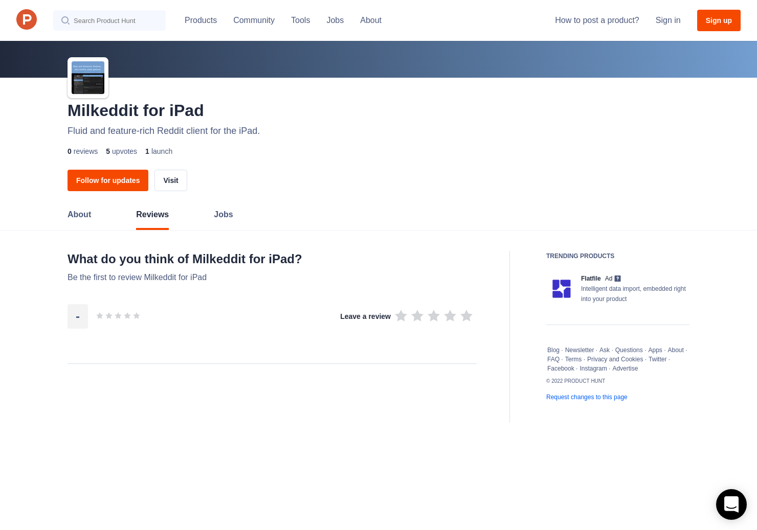 Milkeddit for iPad Reviews - Pros, Cons and Rating   Product