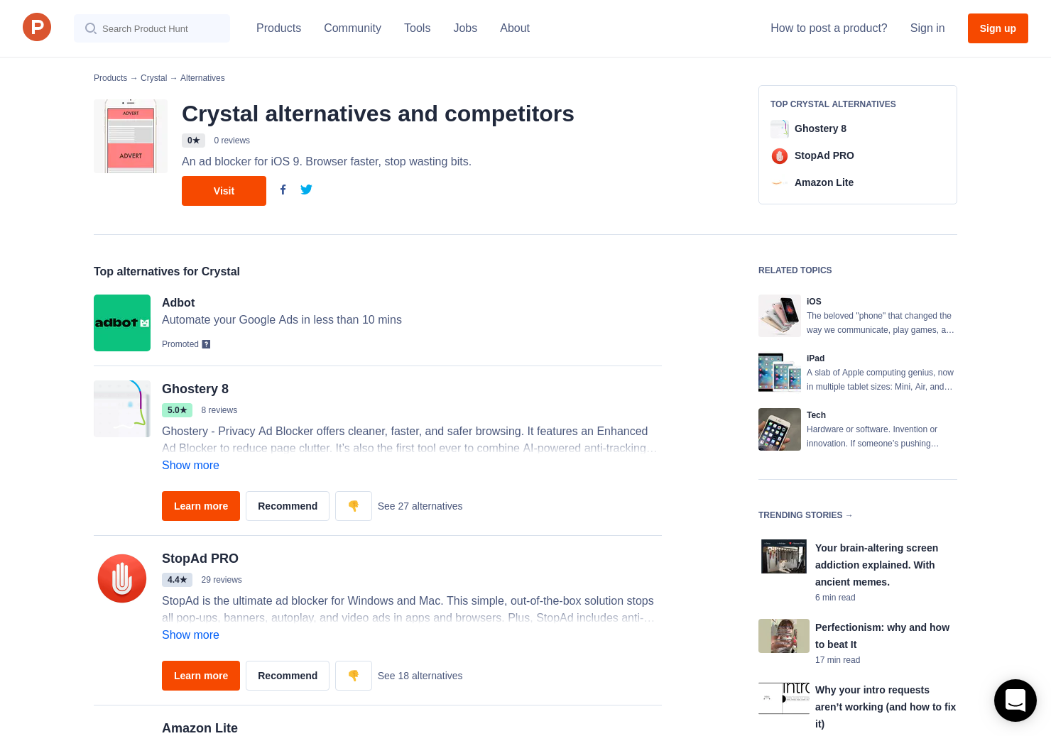 17 Alternatives to Crystal for iPhone, iPad   Product Hunt