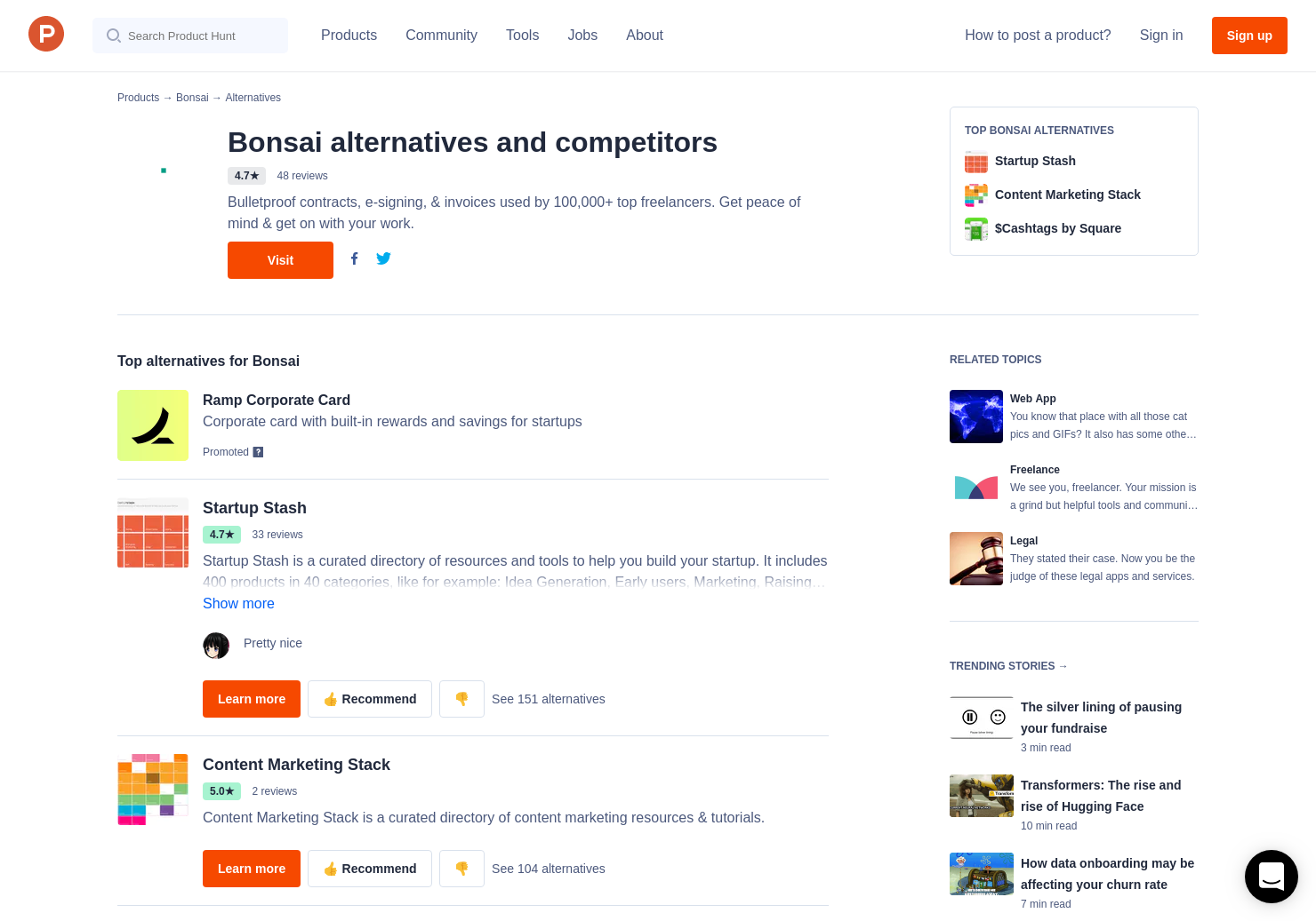 48 Alternatives to Time Tracking for Freelancers   Product Hunt