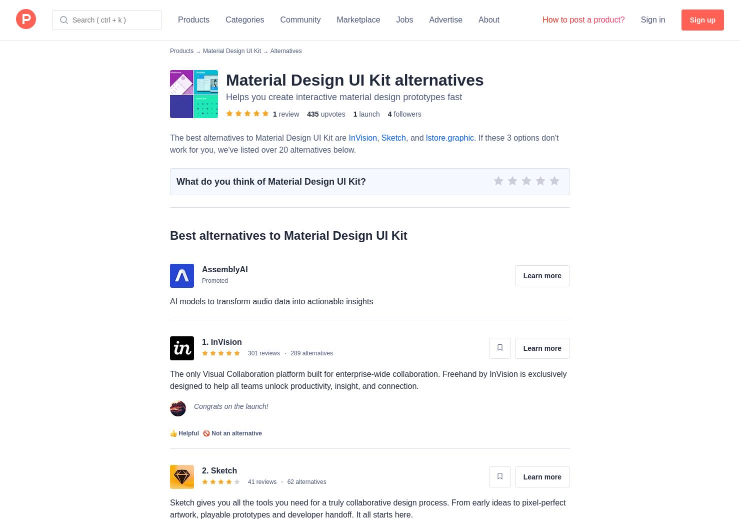 21 Alternatives to Material Design UI Kit   Product Hunt