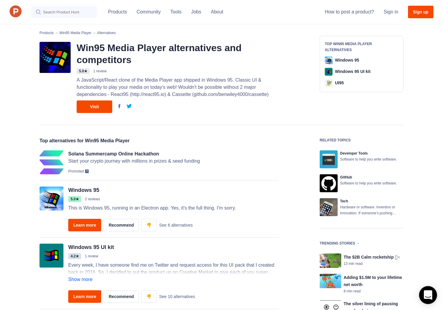 5 Alternatives to Win95 Media Player   Product Hunt