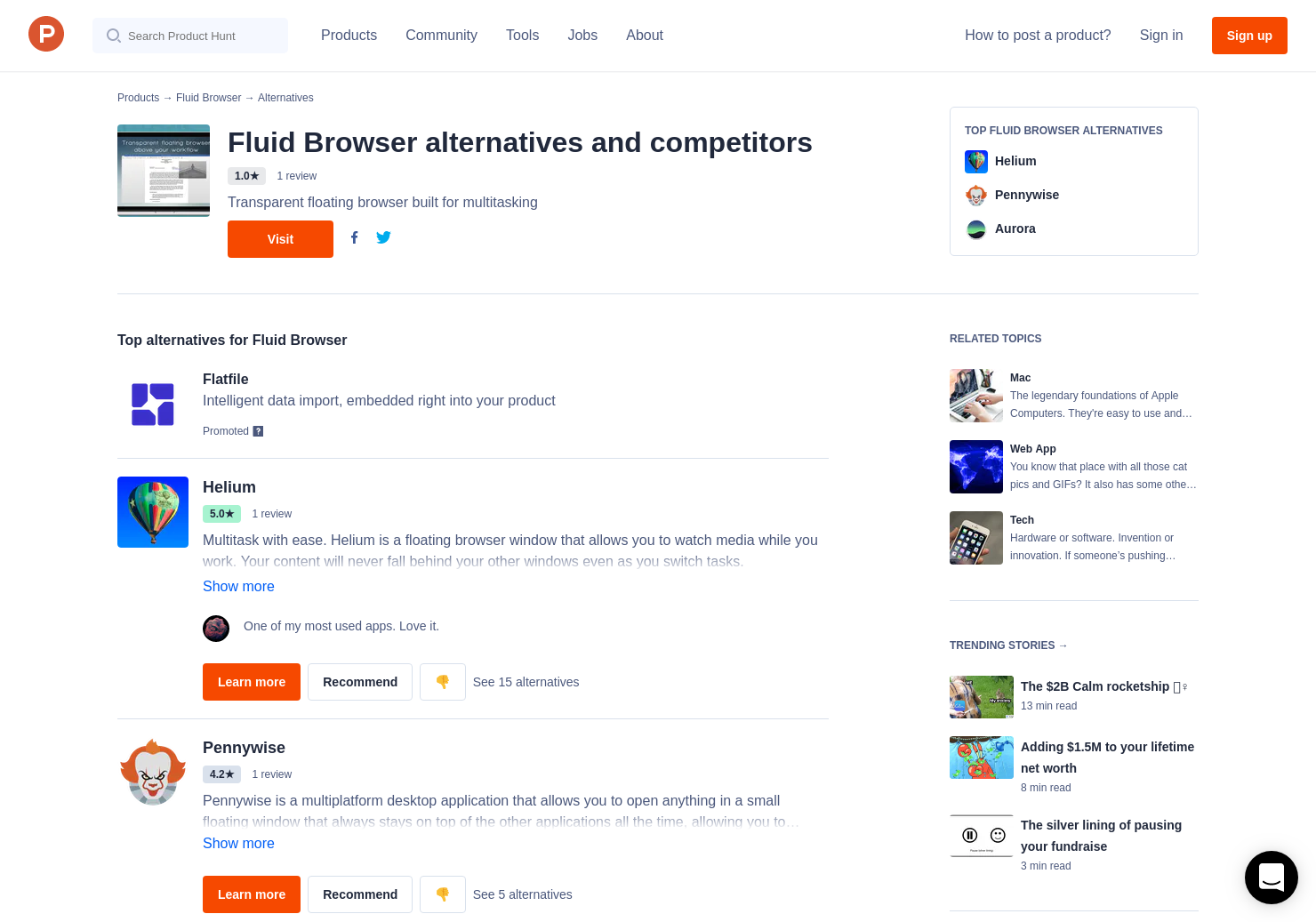 8 Alternatives to Fluid Browser for Mac | Product Hunt