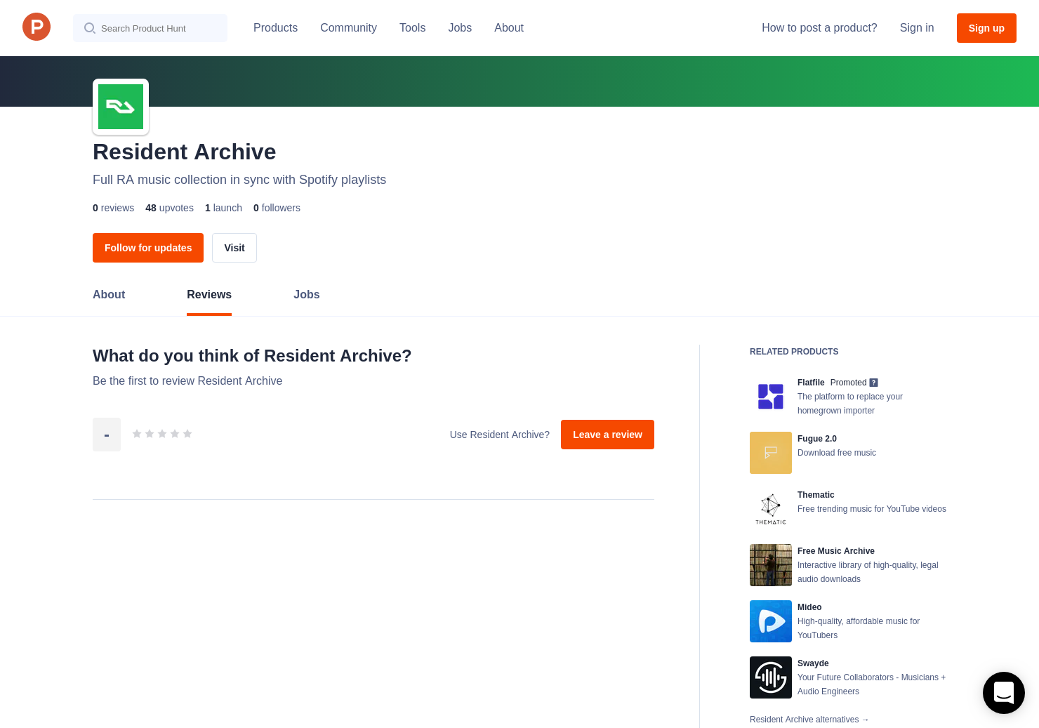 Resident Archive Reviews - Pros, Cons and Rating | Product Hunt