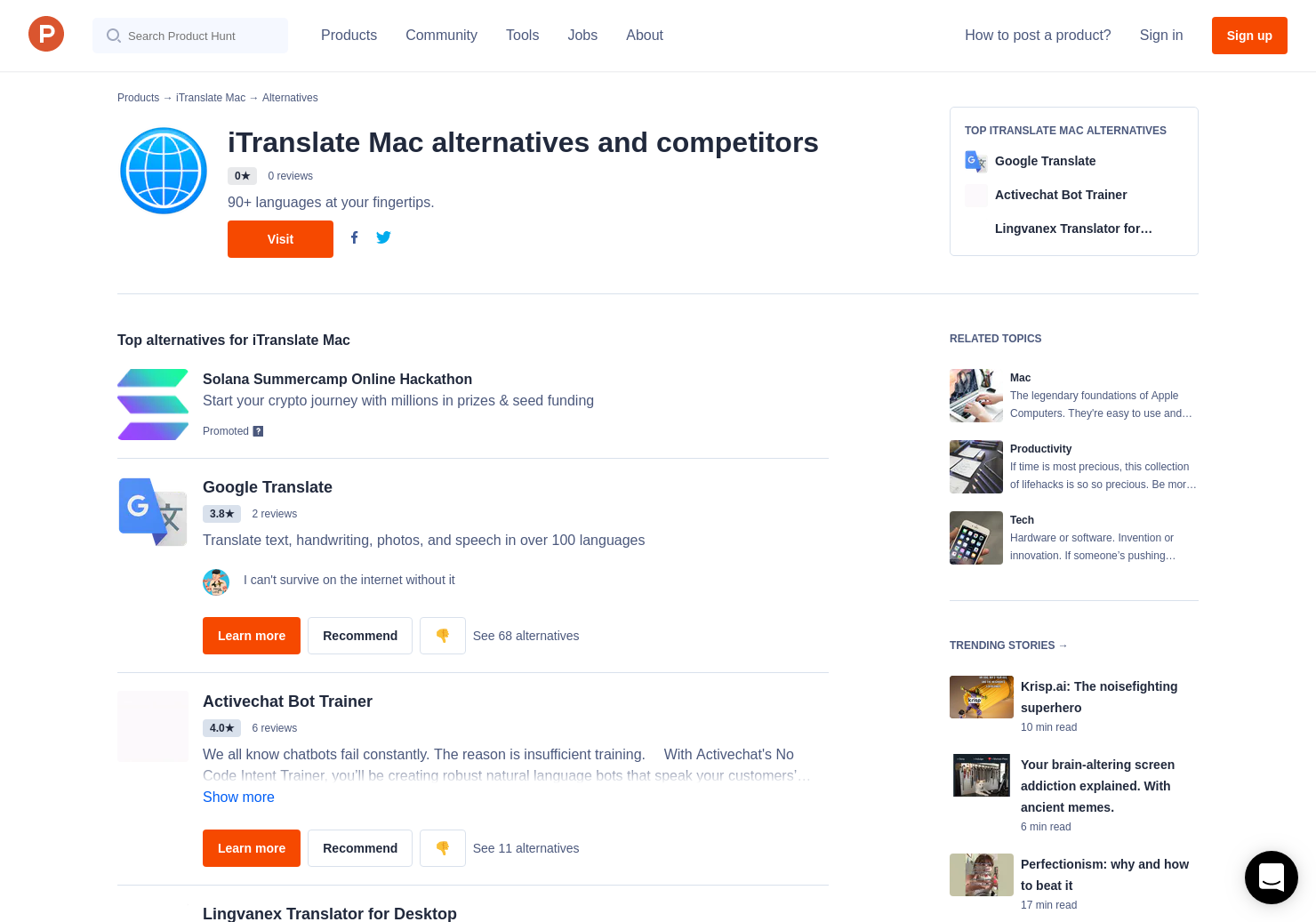 11 Alternatives to iTranslate Mac for Mac | Product Hunt