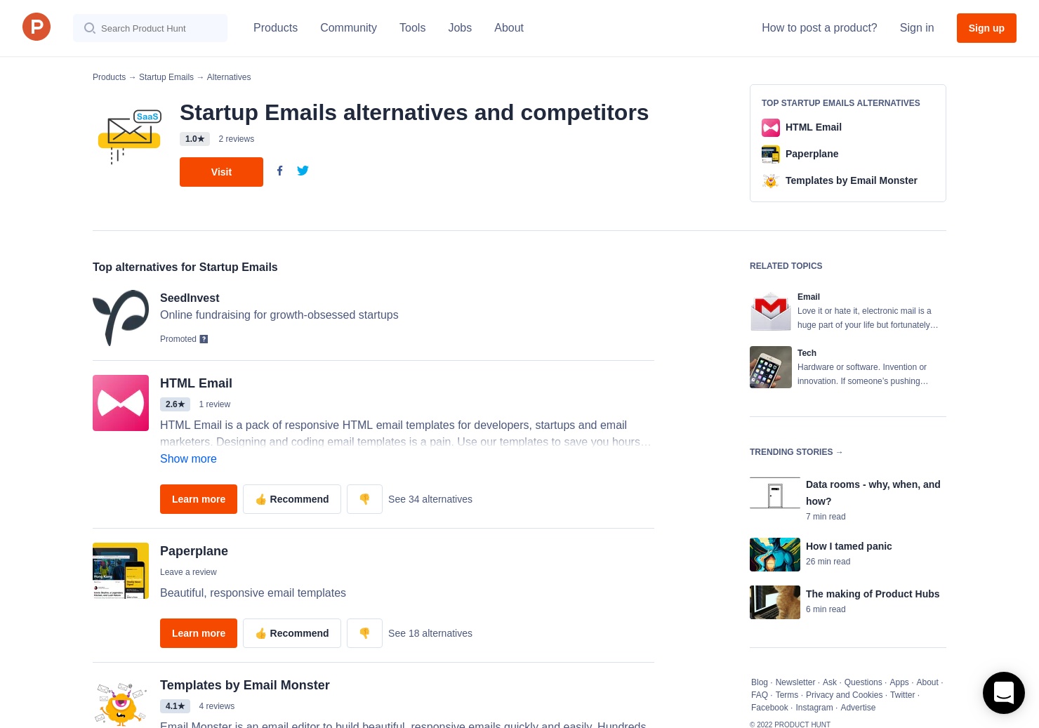 5 Alternatives To Saas Email Templates Product Hunt