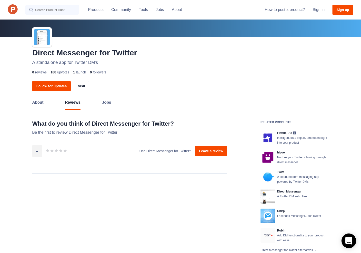 Direct Messenger for Twitter Reviews - Pros, Cons and Rating
