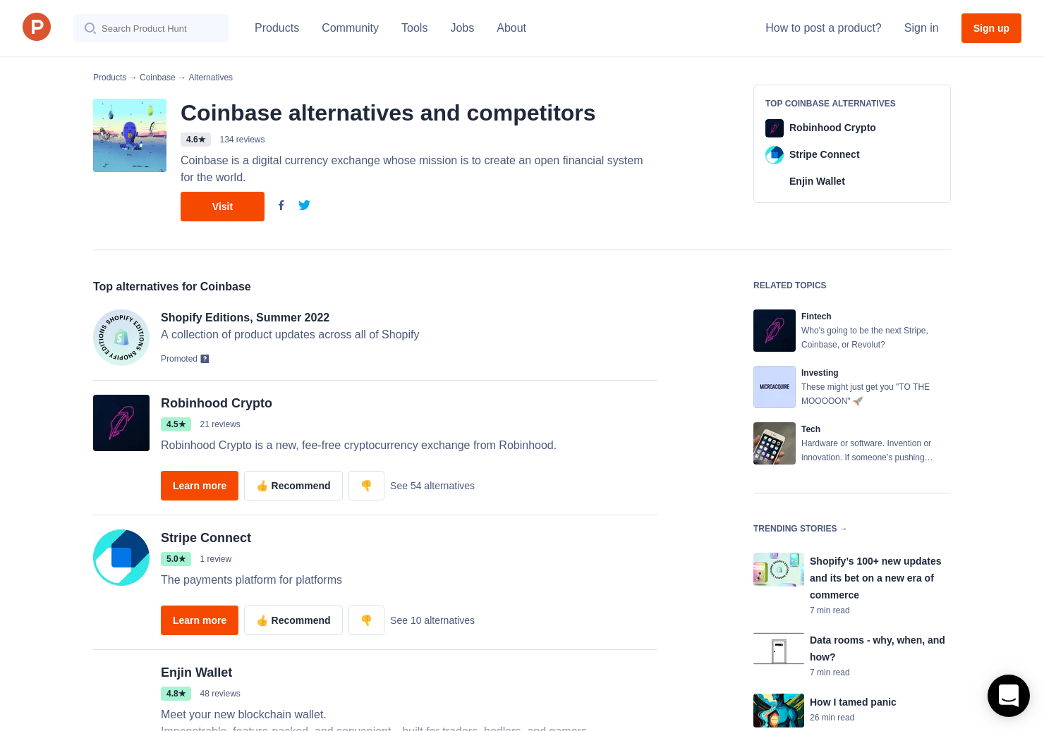 26 Alternatives to Coinbase | Product Hunt