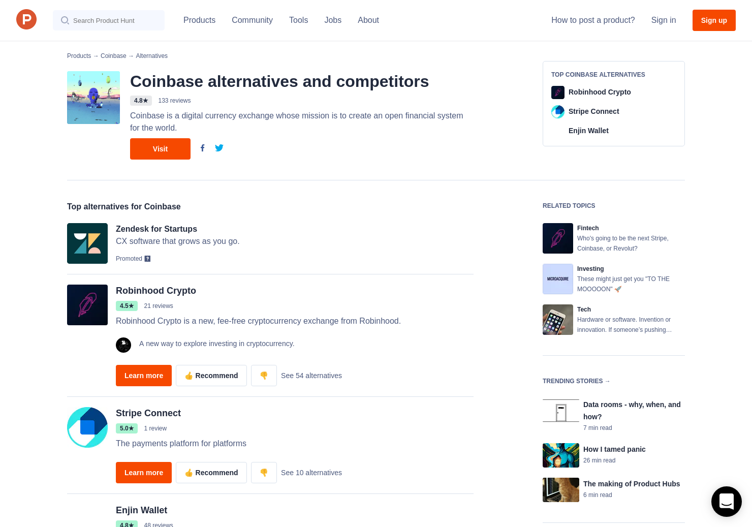 6 Alternatives to Coinbase Card for Android, iPhone | Product Hunt