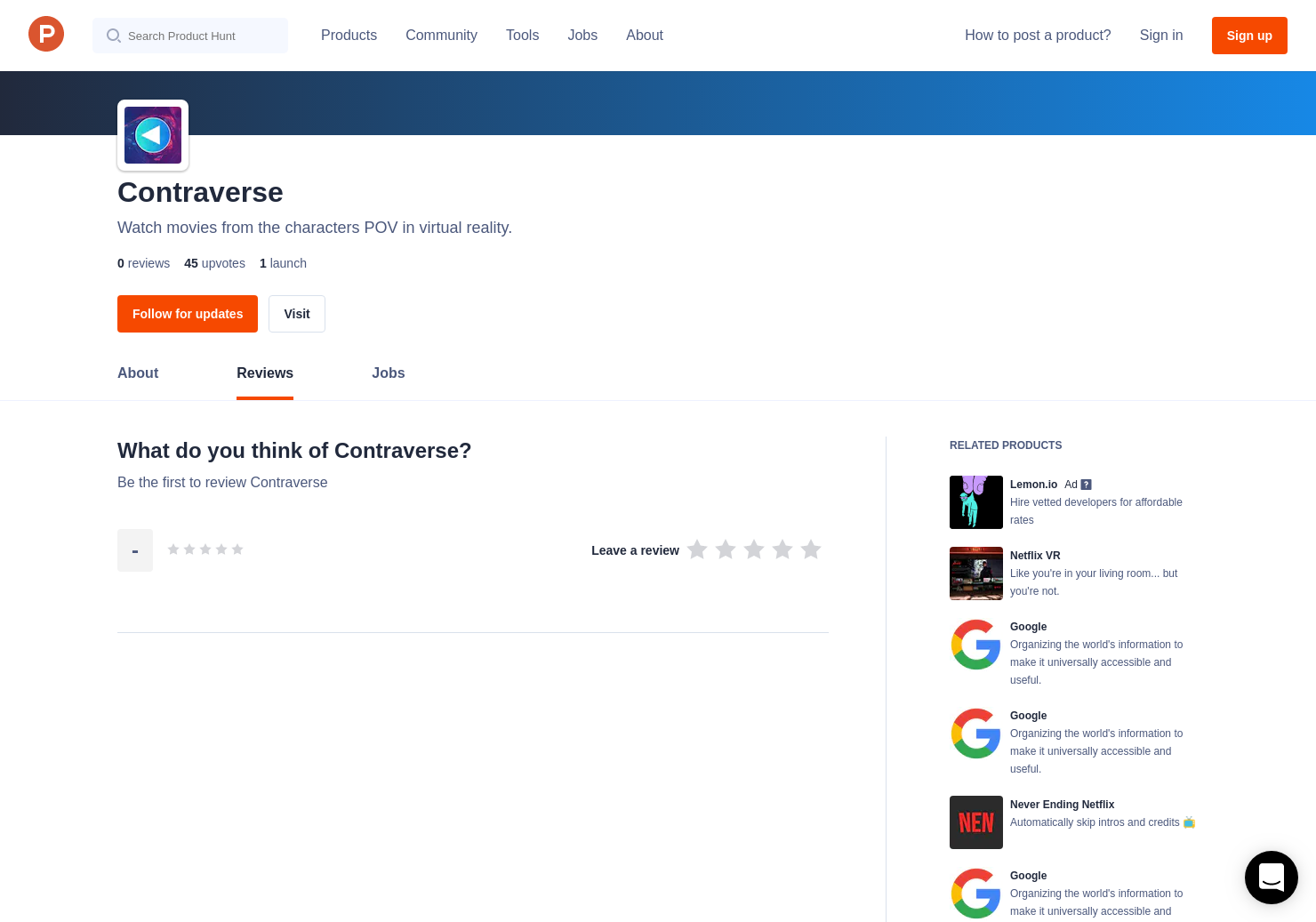 Contraverse Reviews - Pros, Cons and Rating | Product Hunt