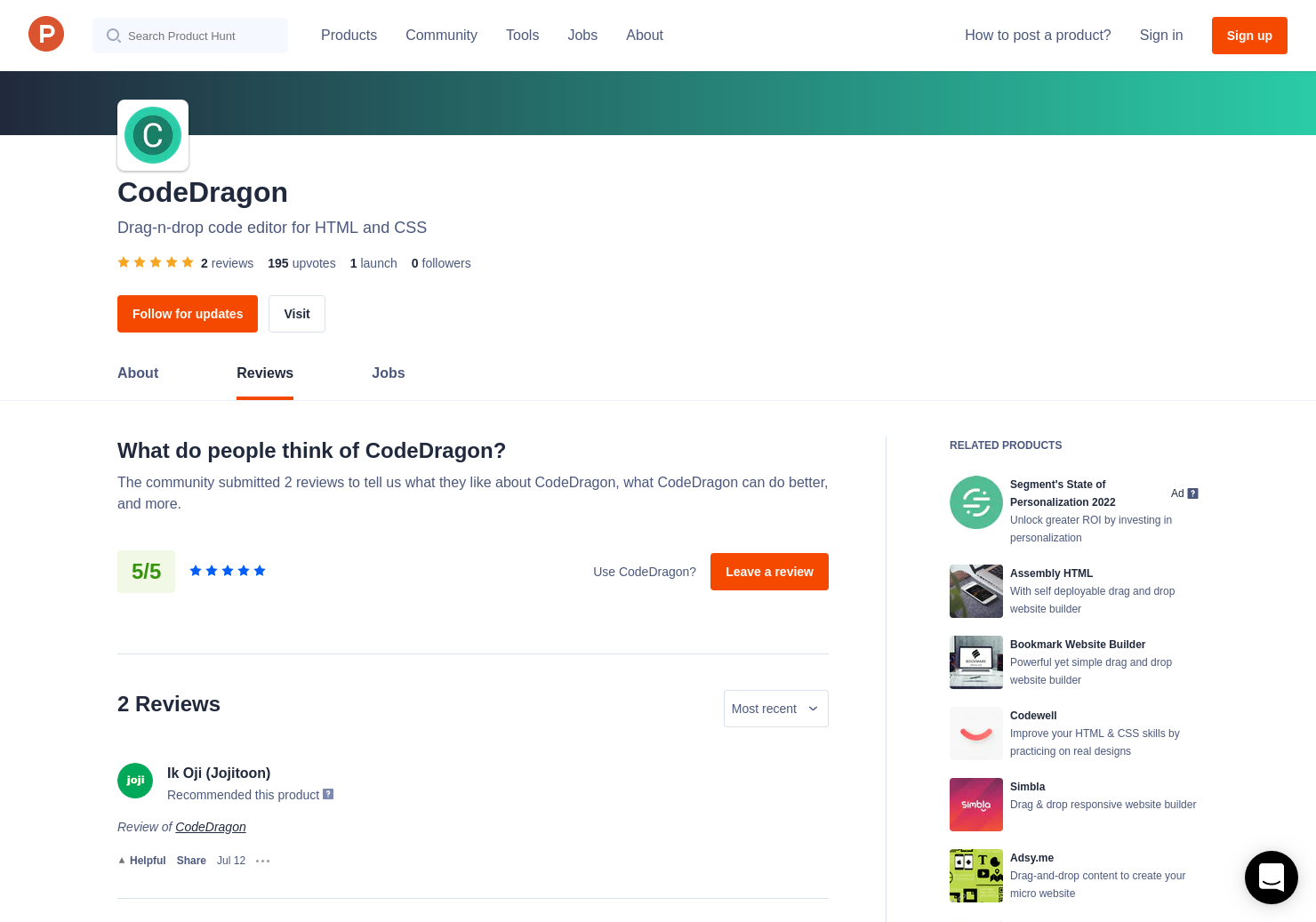 CodeDragon Reviews - Pros, Cons and Rating   Product Hunt