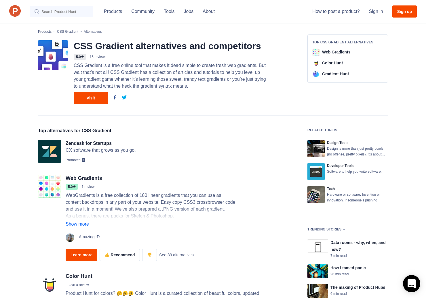 17 Alternatives To Css Gradient Product Hunt