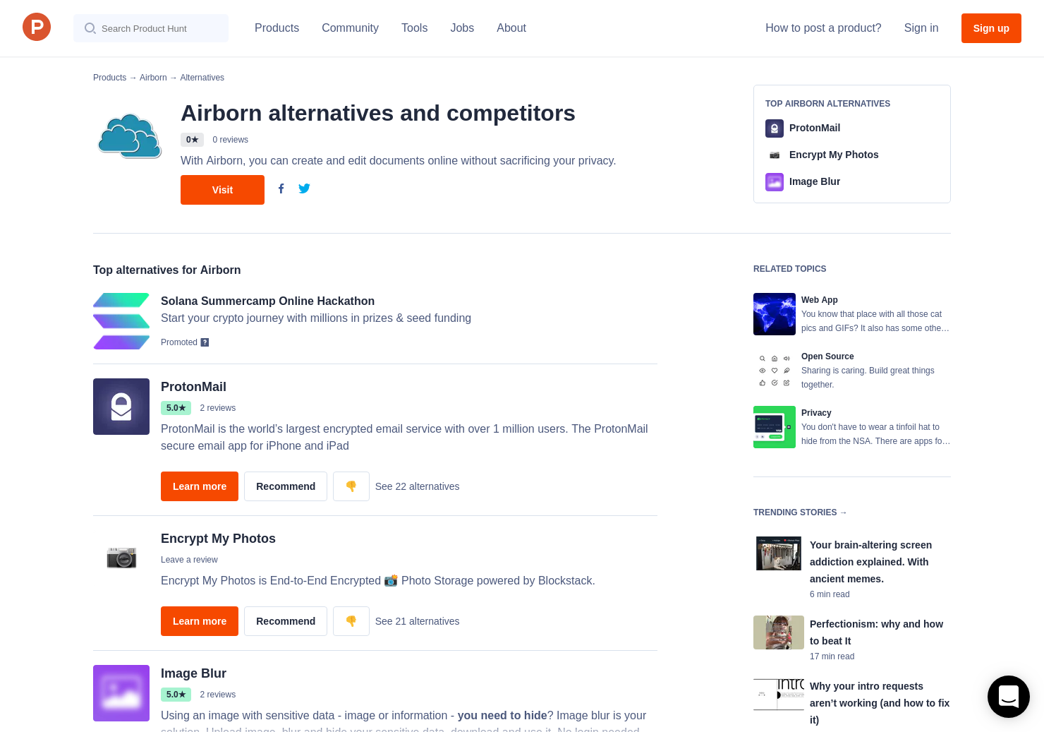 10 Alternatives to Airborn   Product Hunt