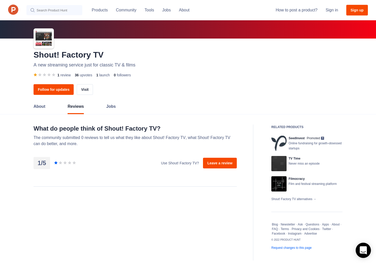 Shout! Factory TV Reviews - Pros, Cons and Rating | Product Hunt