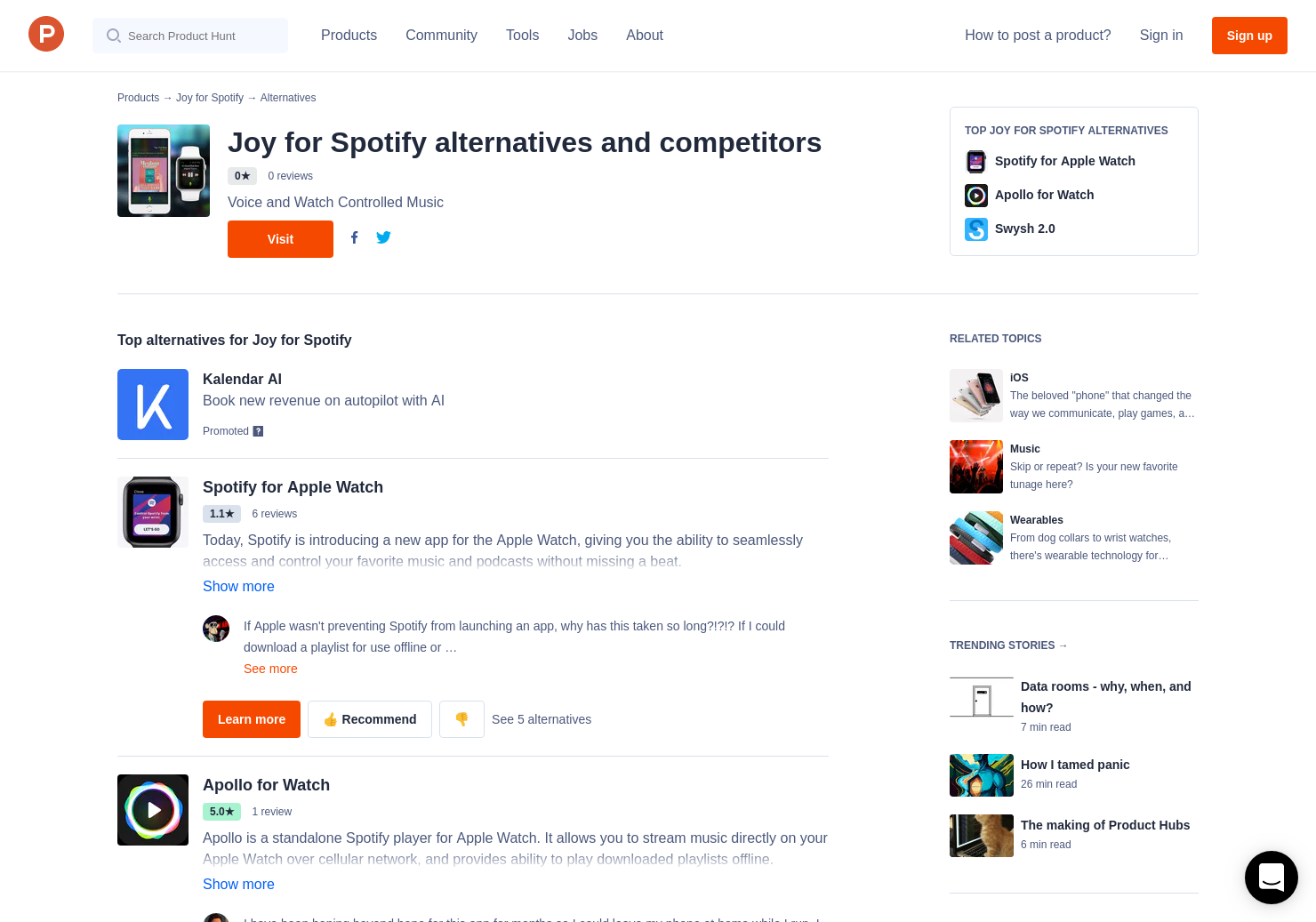 3 Alternatives to Joy for Spotify for iPhone, Apple Watch