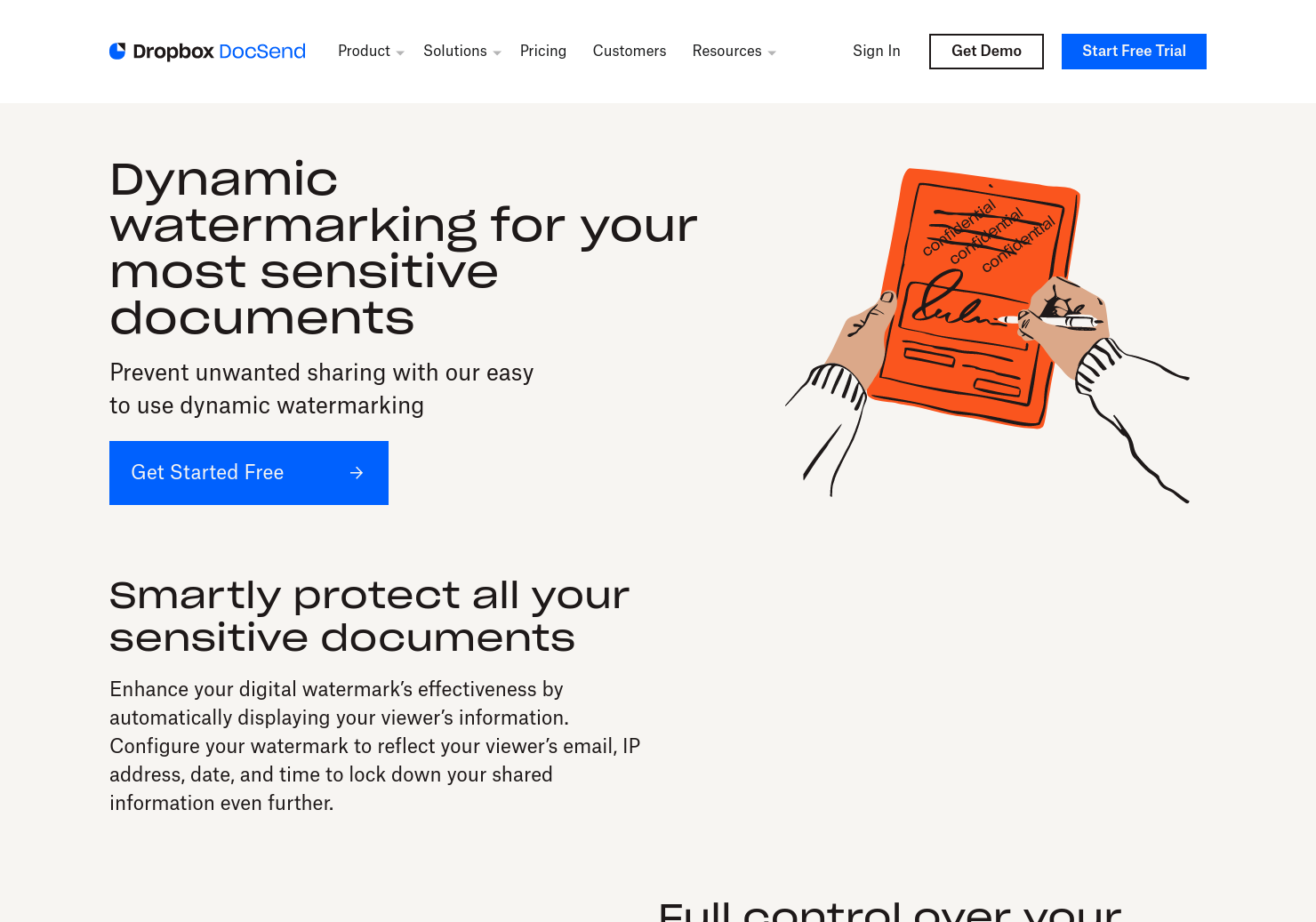 Dynamic Watermarking by DocSend