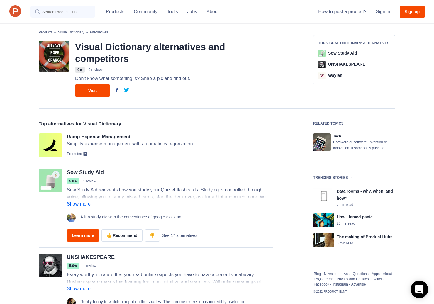 4 Alternatives to Visual Dictionary | Product Hunt