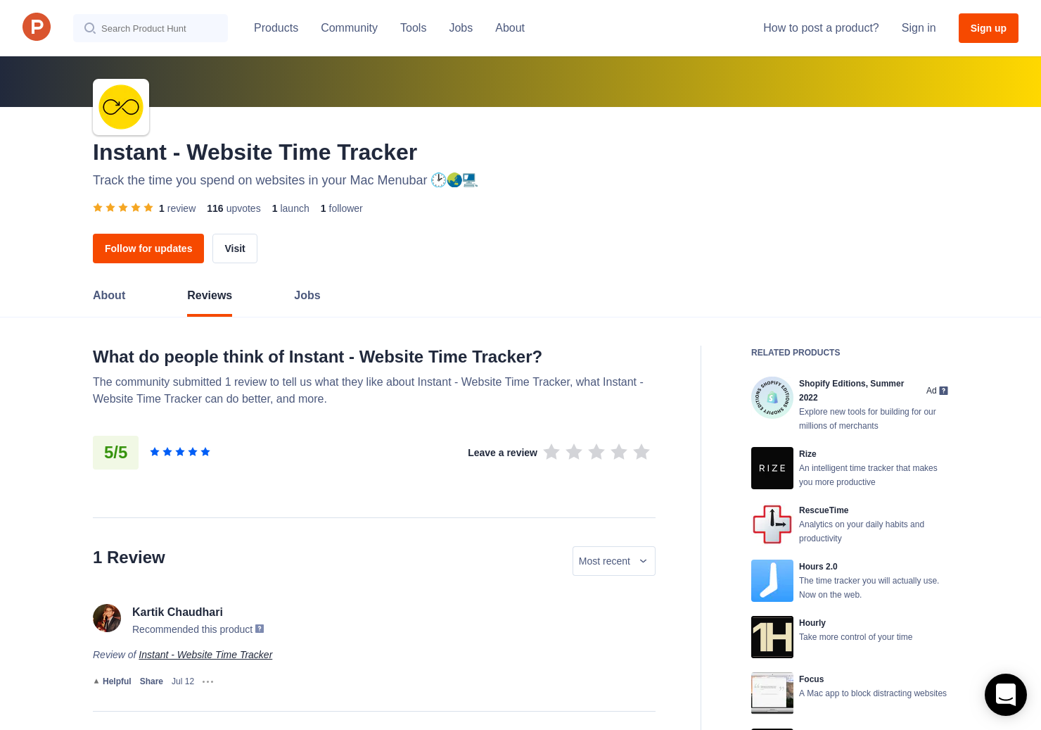 1 Instant - Website Time Tracker Reviews - Pros, Cons and