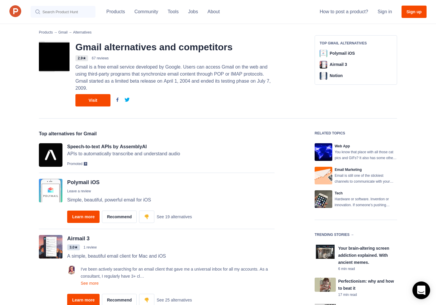 13 Alternatives to New Gmail | Product Hunt