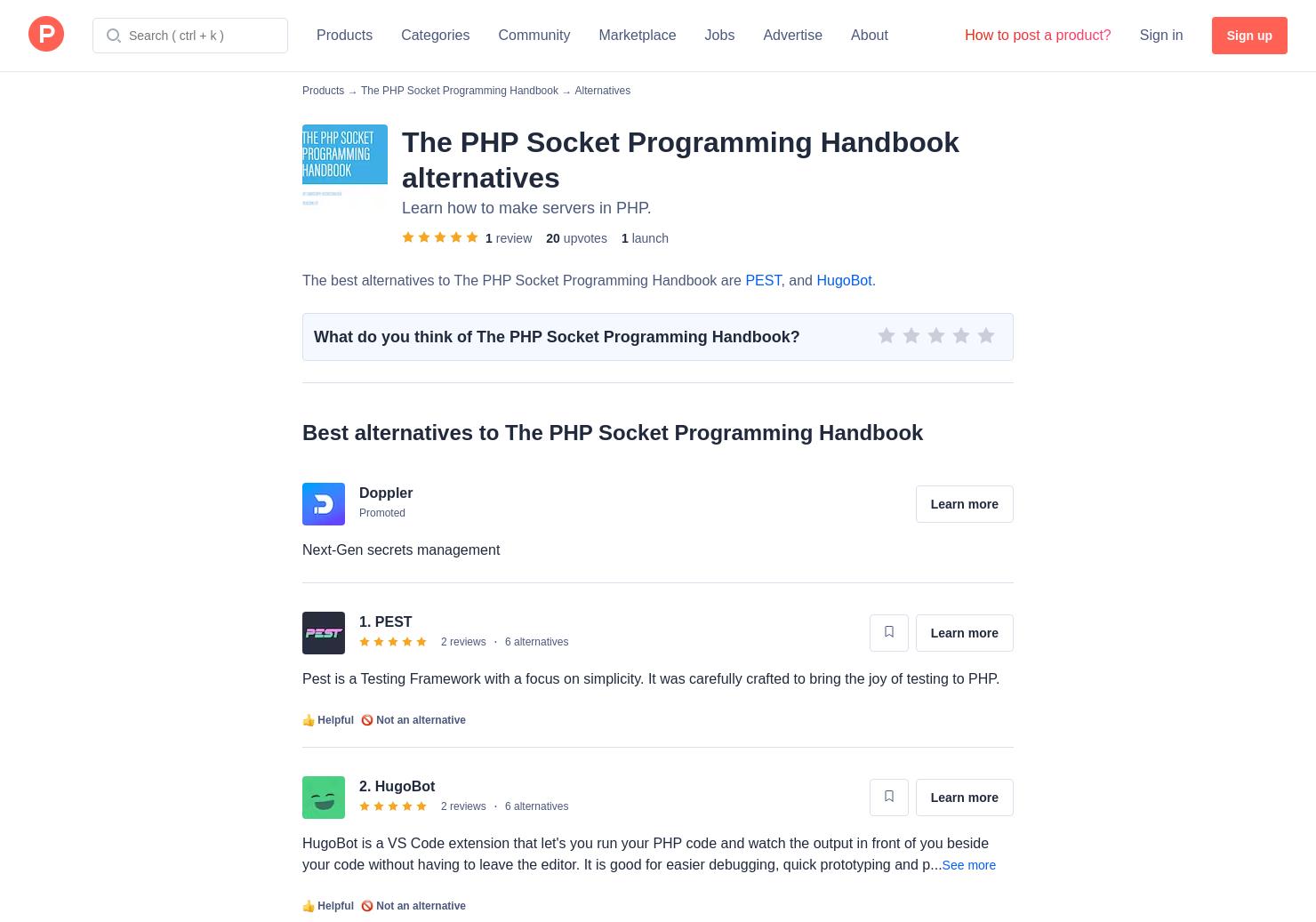 2 Alternatives to The PHP Socket Programming Handbook