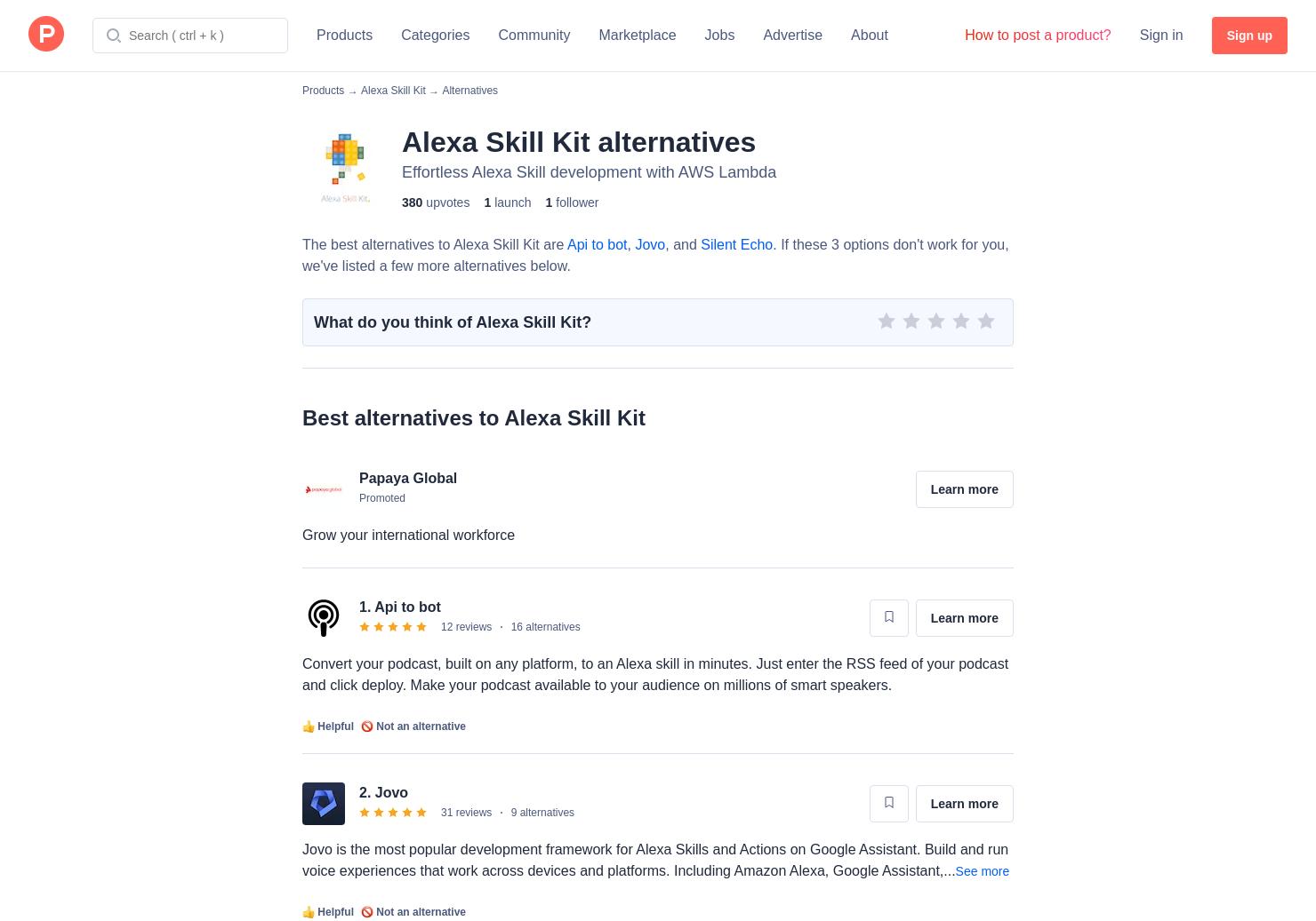 27 Alternatives to Alexa Skill Kit | Product Hunt