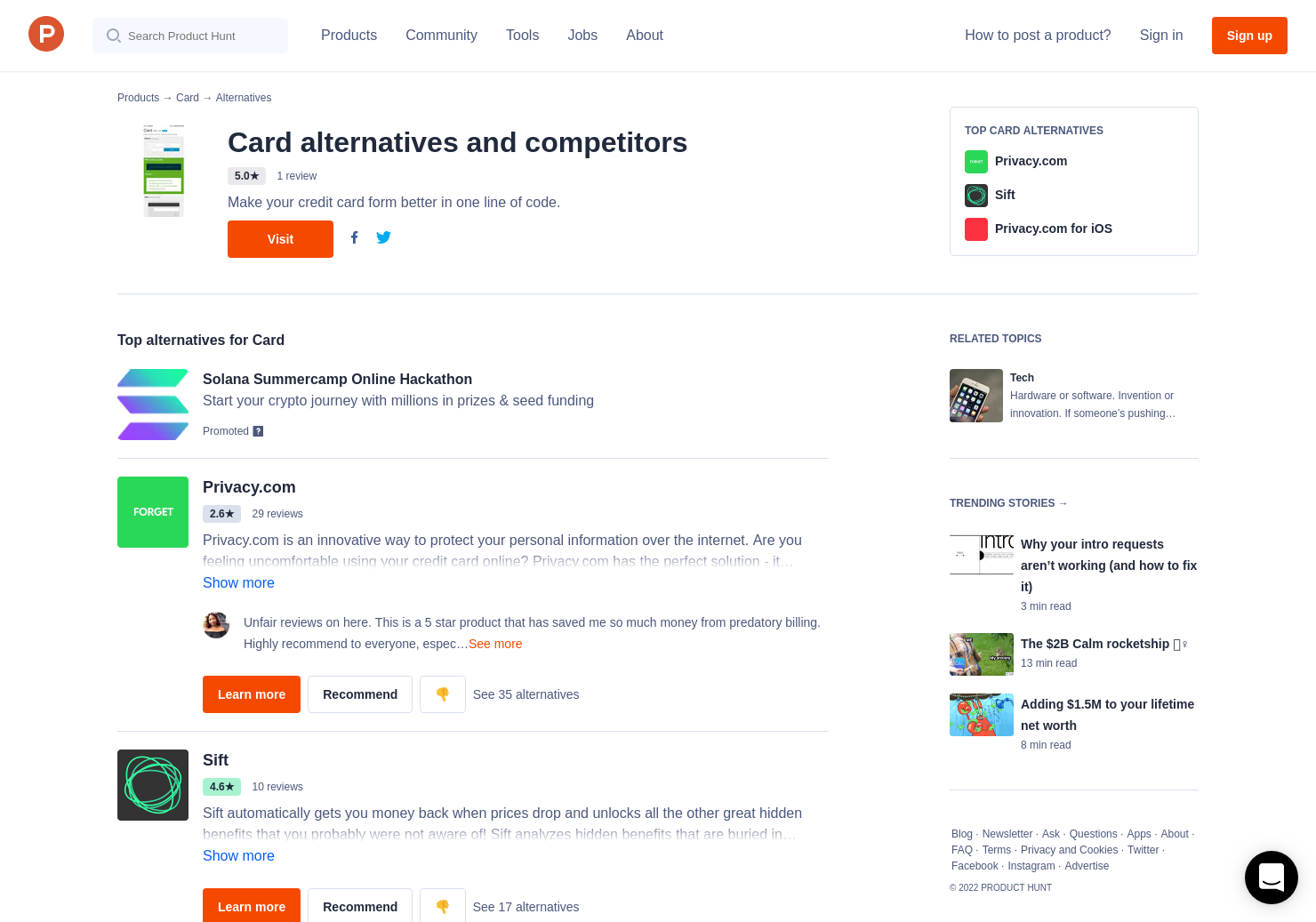 3 Alternatives to Card | Product Hunt