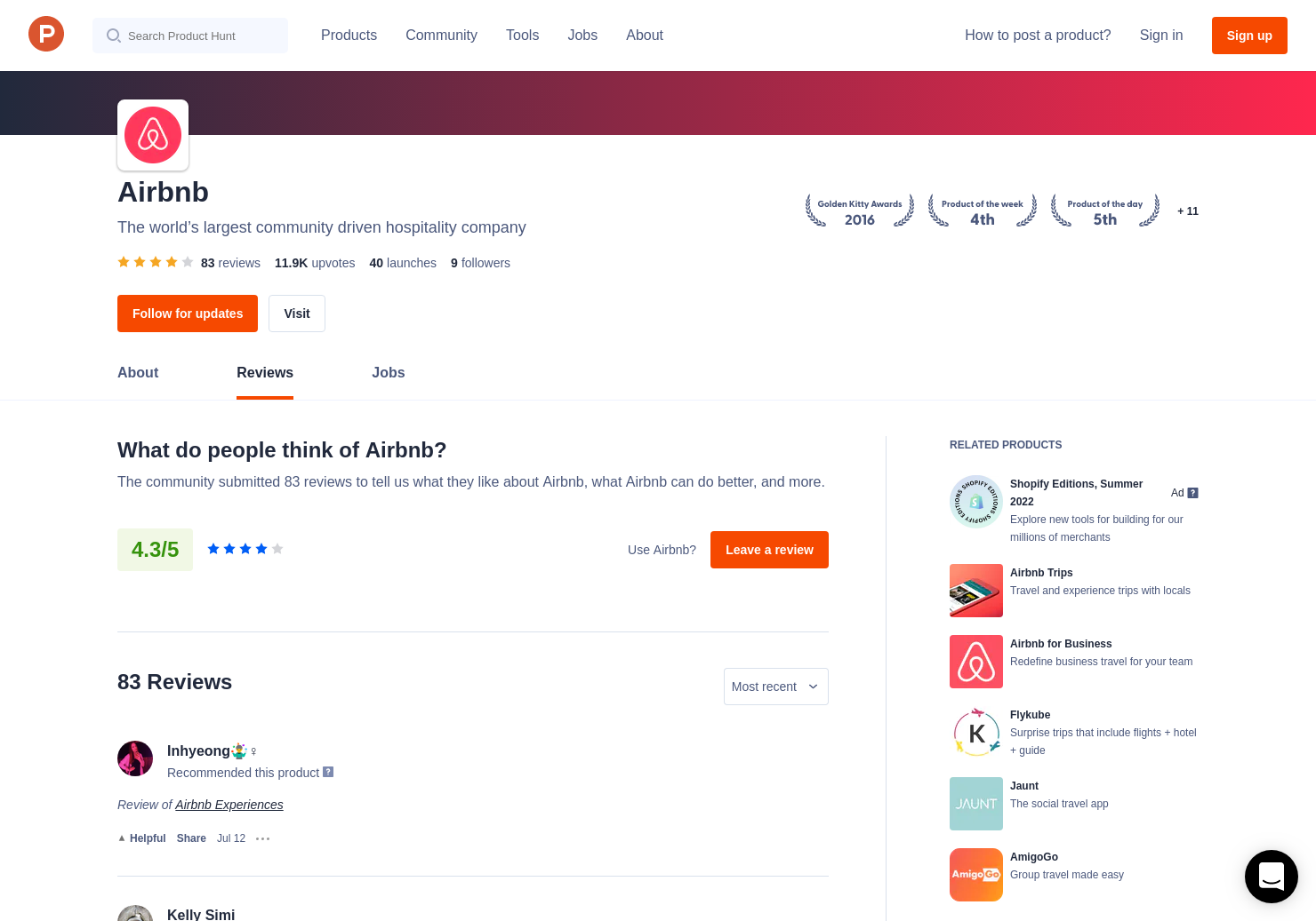 1 Airbnb Trips Reviews - Pros, Cons and Rating | Product Hunt