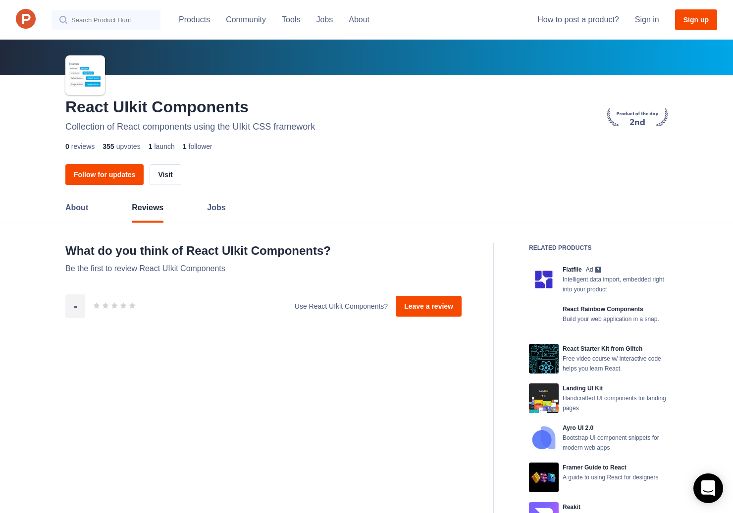 React UIkit Components Reviews - Pros, Cons and Rating