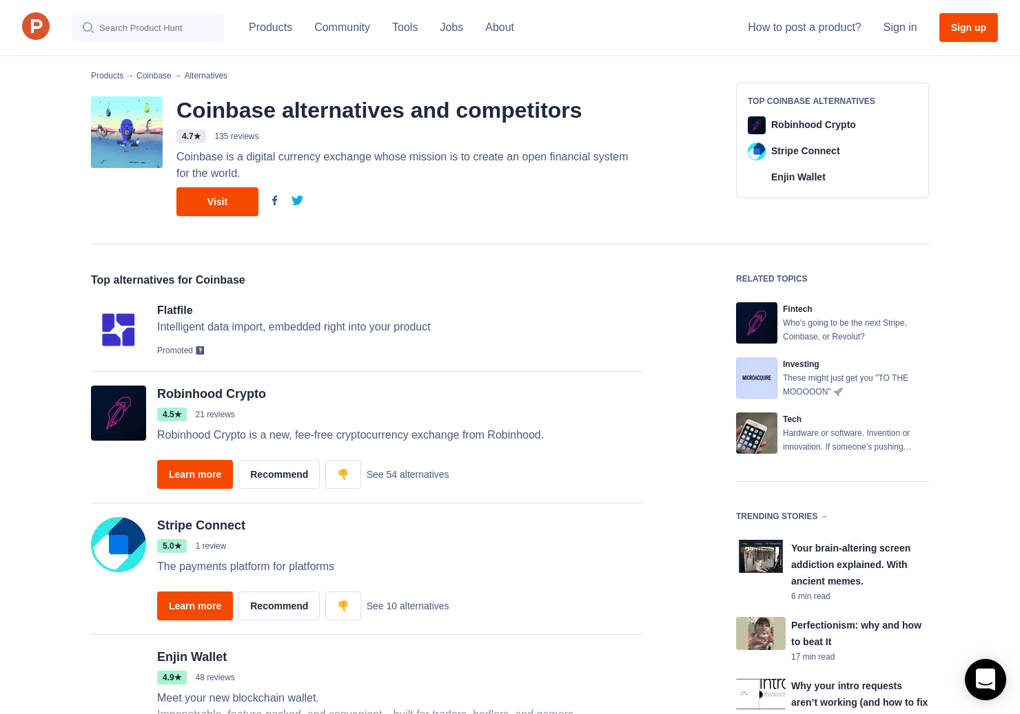 9 Alternatives to Coinbase Earn | Product Hunt