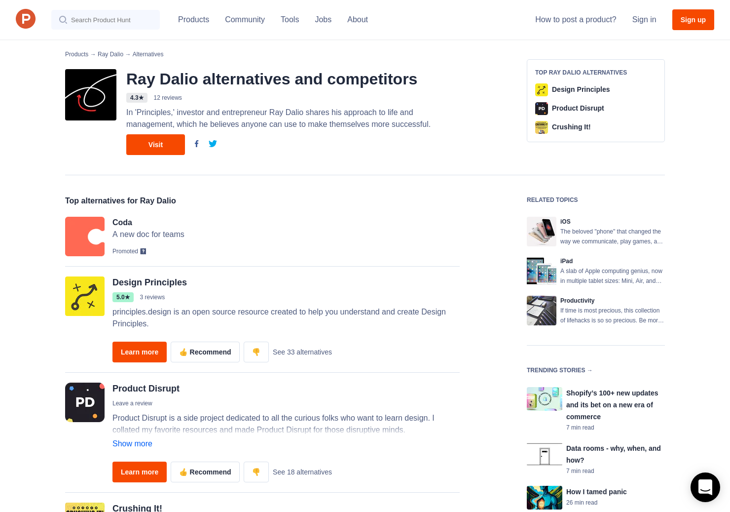 9 Alternatives to Principles for Success | Product Hunt