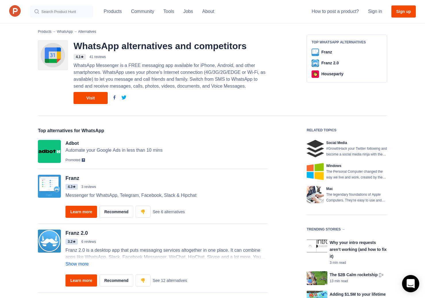 11 Alternatives to WhatsApp for Desktop | Product Hunt