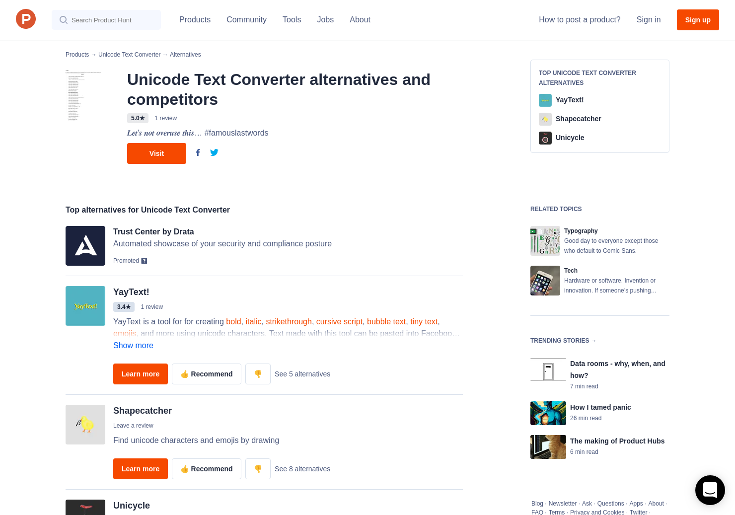 3 Alternatives to Unicode Text Converter | Product Hunt