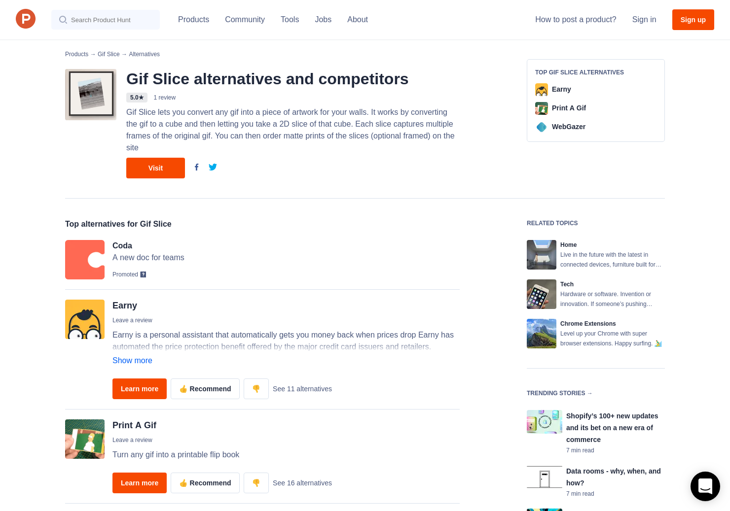 5 alternatives to slice drops for android iphone product hunt